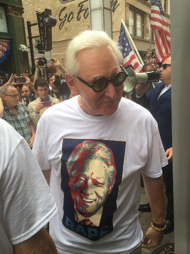 Roger Stone at the Republican National Convention in Cleveland on July 21, 2016.