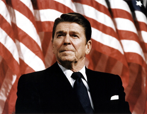 President Ronald Reagan at Durenberger Republican convention Rally, 1982 (Photo by Universal History Archive/Getty Images)