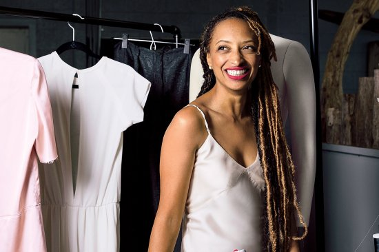 Détroit Is the New Black founder Roslyn Karamoko in her Corktown factory.