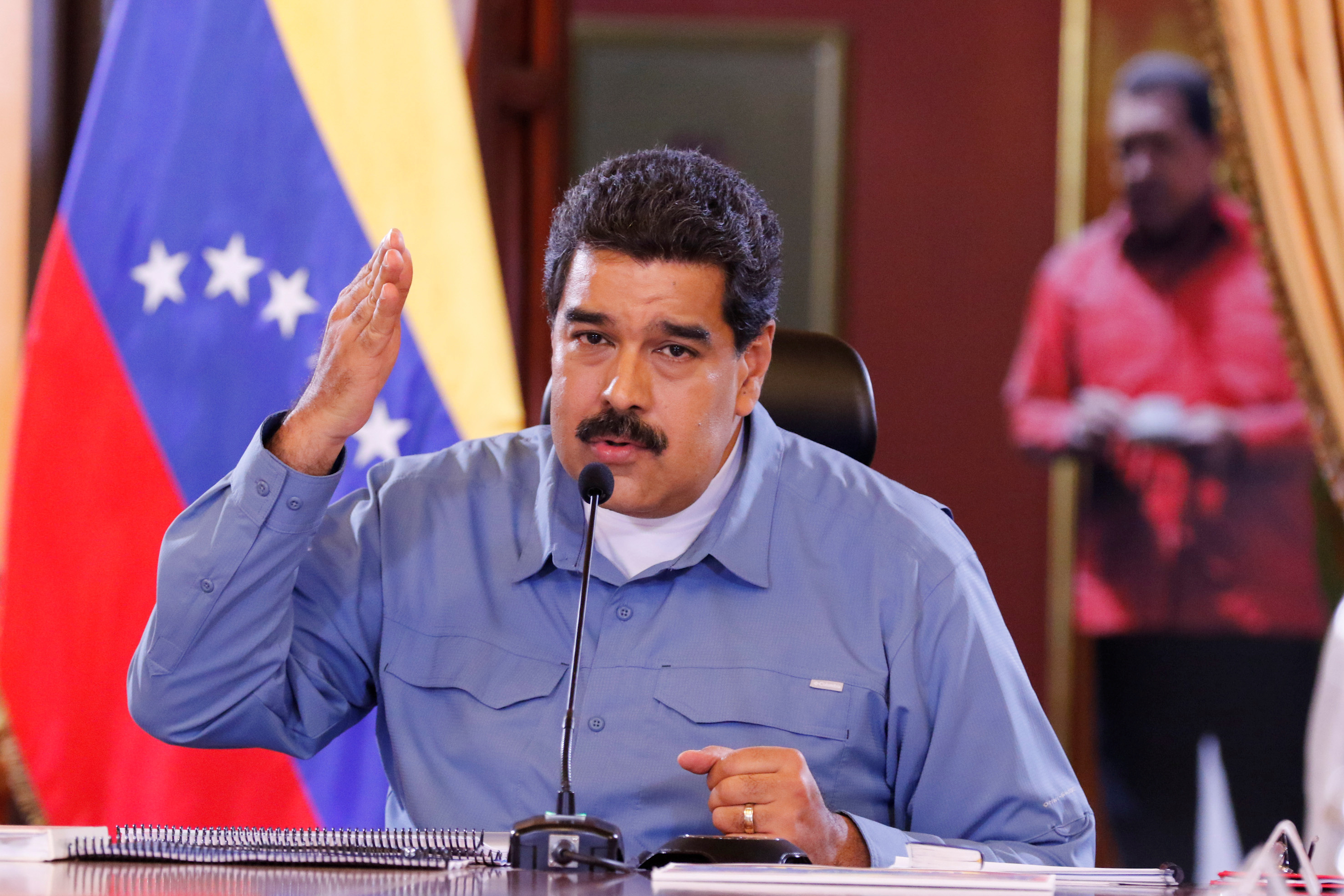 Venezuela's President Nicolas Maduro speaks during a Council of Ministers meeting at Miraflores Palace in Caracas, Venezuela July 11, 2016