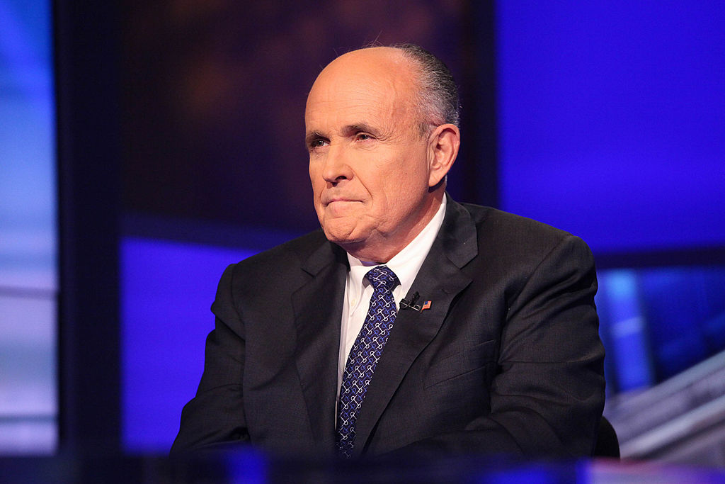 Rudy Giuliani visits Cavuto on Fox Business Network at Fox Studios on Sept. 23, 2014, in New York City
