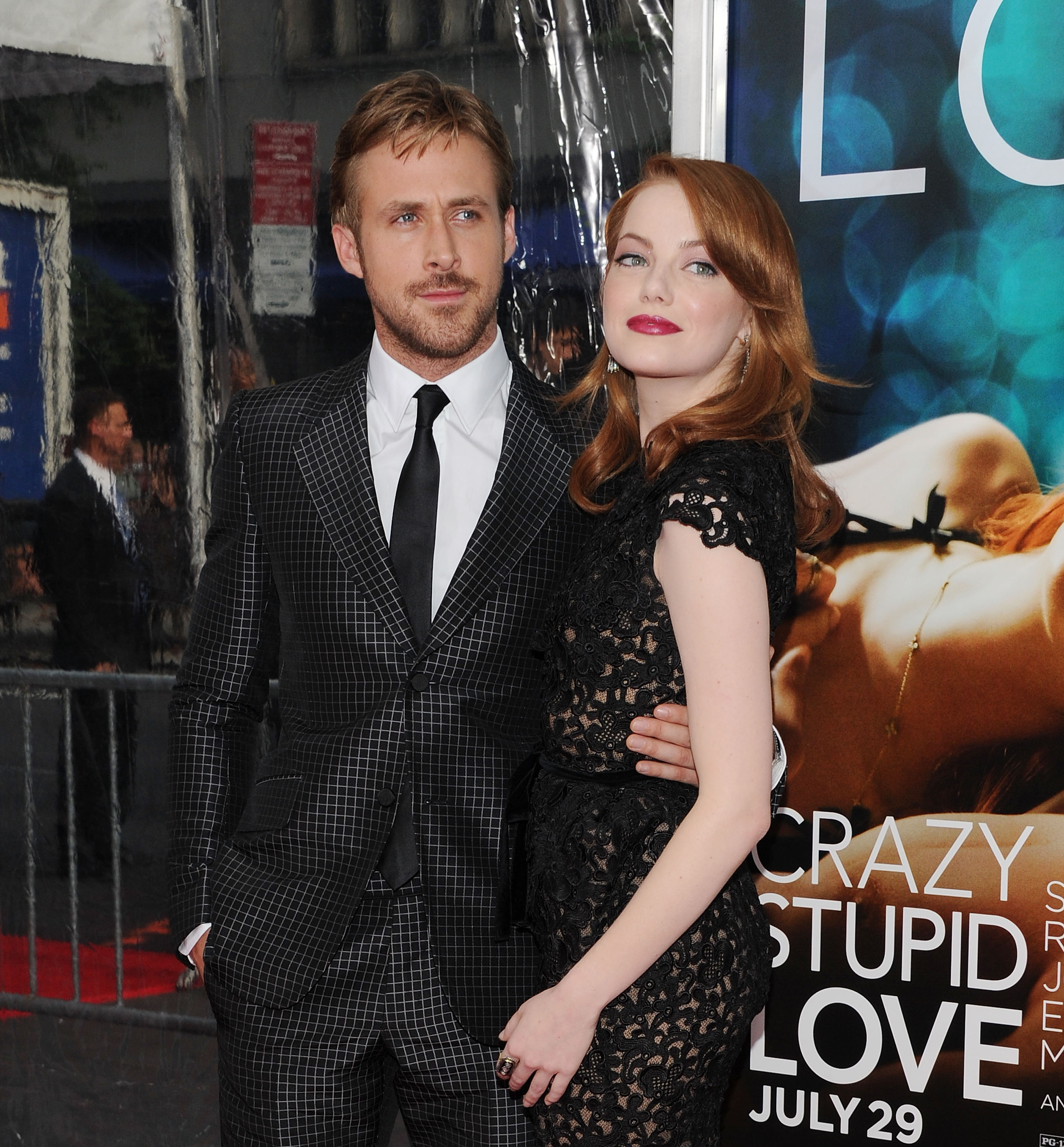 Ryan Gosling and Emma Stone attend the  Crazy, Stupid, Love.  premiere on July 19, 2011 in New York City.
