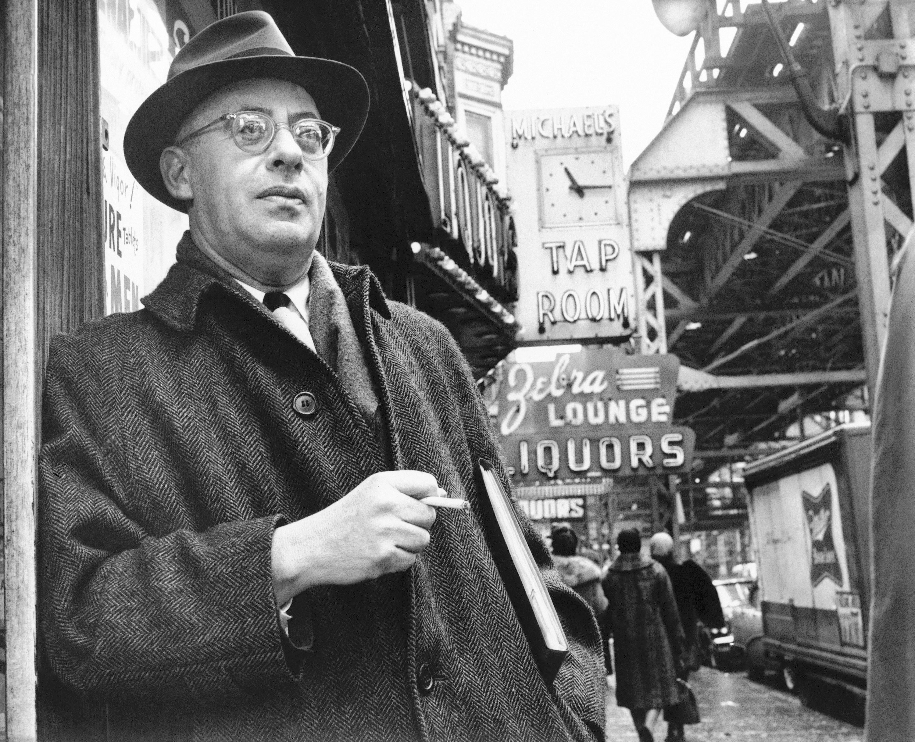 Saul Alinsky, a professional organizer with a strong aversion to welfare programs, is pictured on a street on Chicago?s south side, on Feb. 16, 1966.