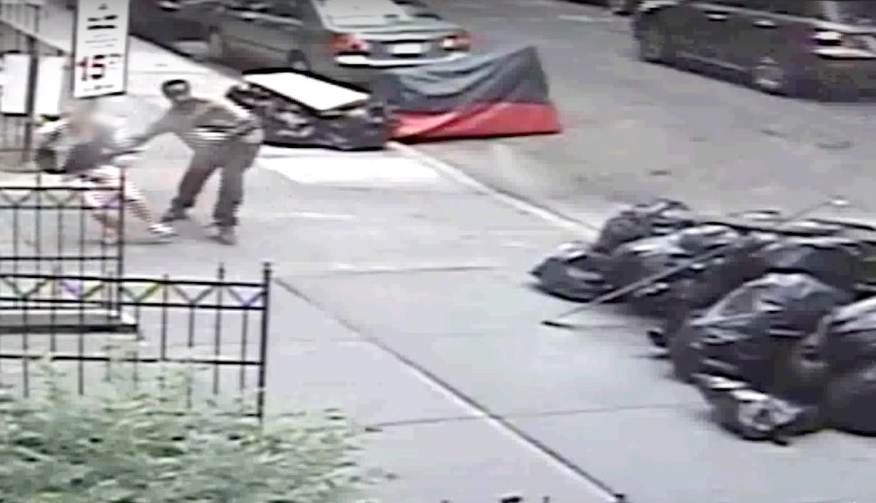 Screenshot of surveillance video