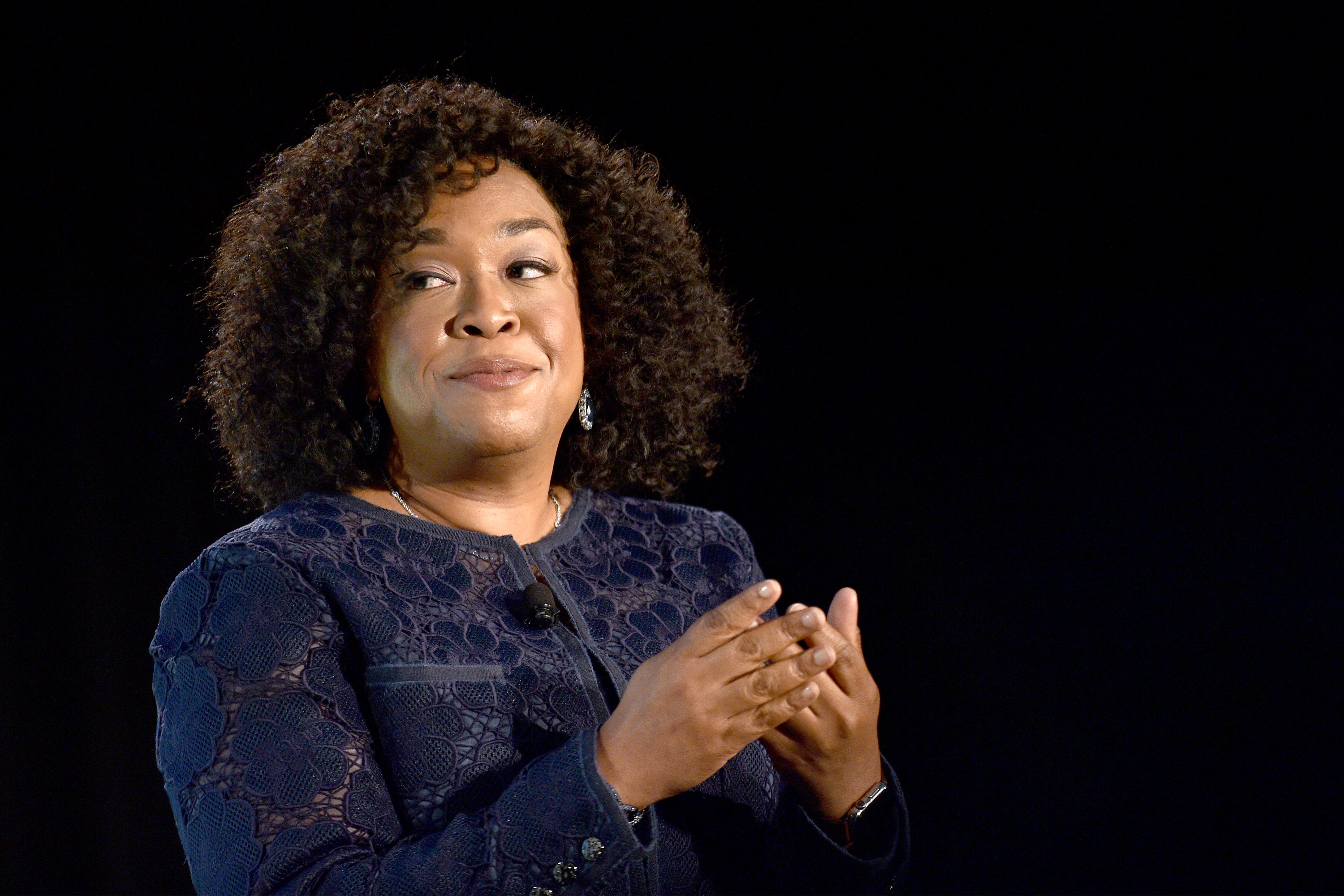 Producer Shonda Rhimes on May 22, 2016 in New York City.