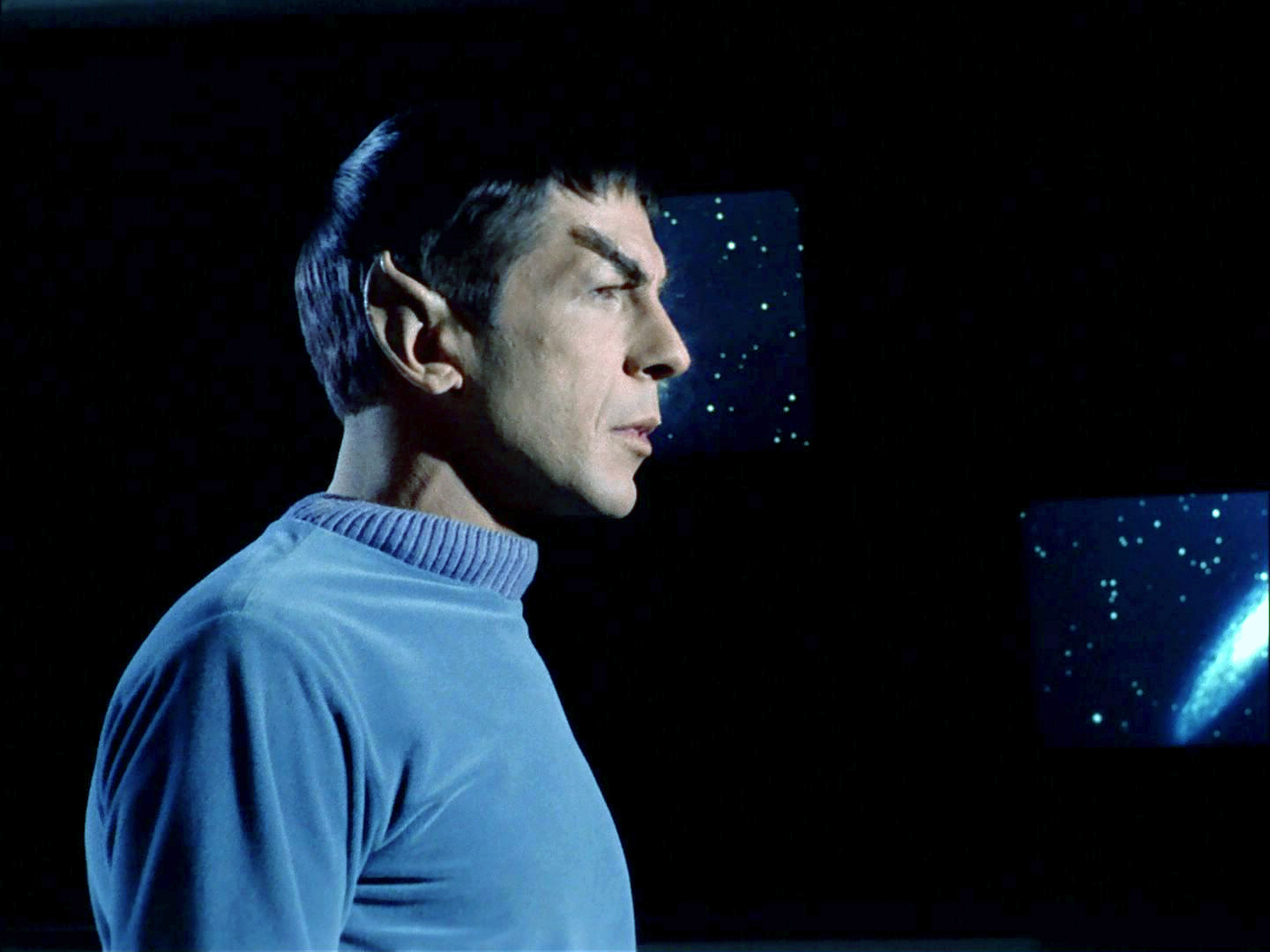 Leonard Nimoy as Commander Spock in the Star Trek: The Original Series, broadcast Oct. 4, 1988.