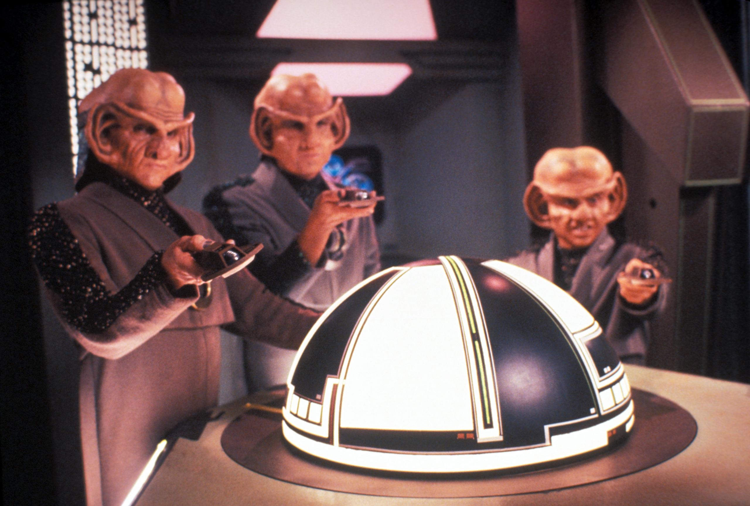 Three Ferengi in Star Trek: The Next Generation, May 2, 1994 .