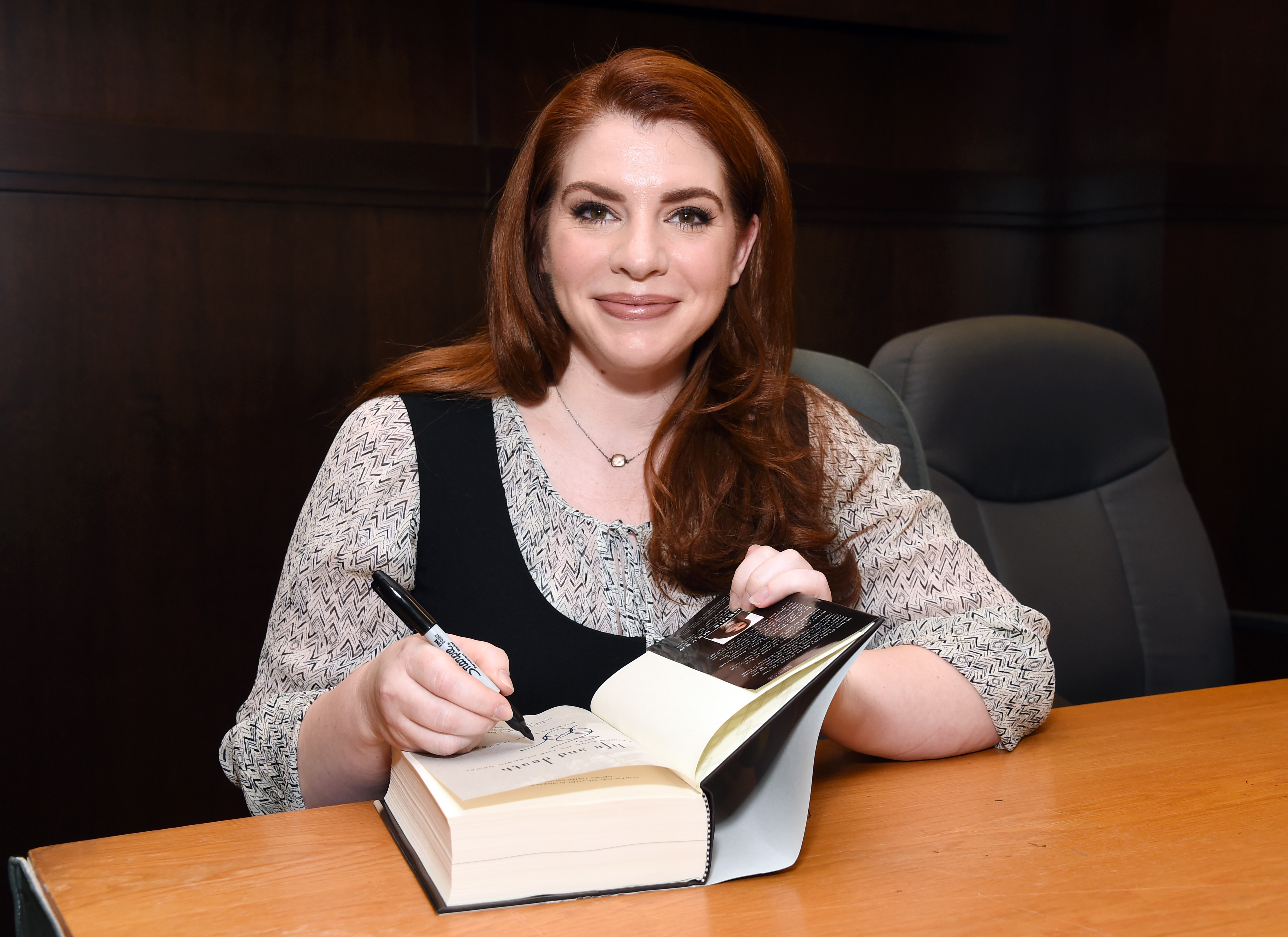 Writer Stephenie Meyer celebrates the tenth anniversary of  Twilight  with a special Q&A at Barnes & Noble at The Grove on October 12, 2015 in Los Angeles, California.