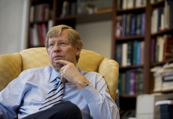 Ted Olson, a famed Supreme Court litigator and former Bush solicitor general whose latest cause is arguing in favor of same-sex marriage, at his office at the law firm Gibson, Dunn & Crutcher on June 9, 2010, in Washington, DC.