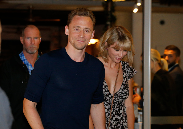 Actor Tom Hiddleston and singer Taylor Swift leave restaurant 'Gemelli Italian' in Broadbeach on the Gold Coast, Queensland.