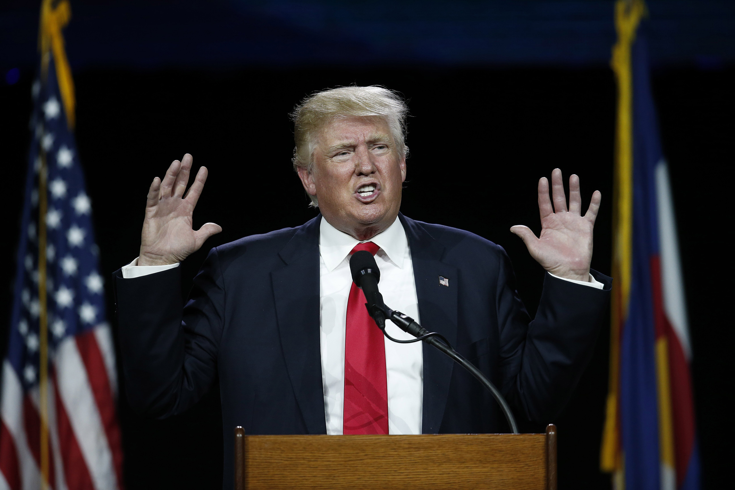 Donald Trump speaks during the opening session of the Western Conservative Summit in Denver, CO, July 1, 2016.