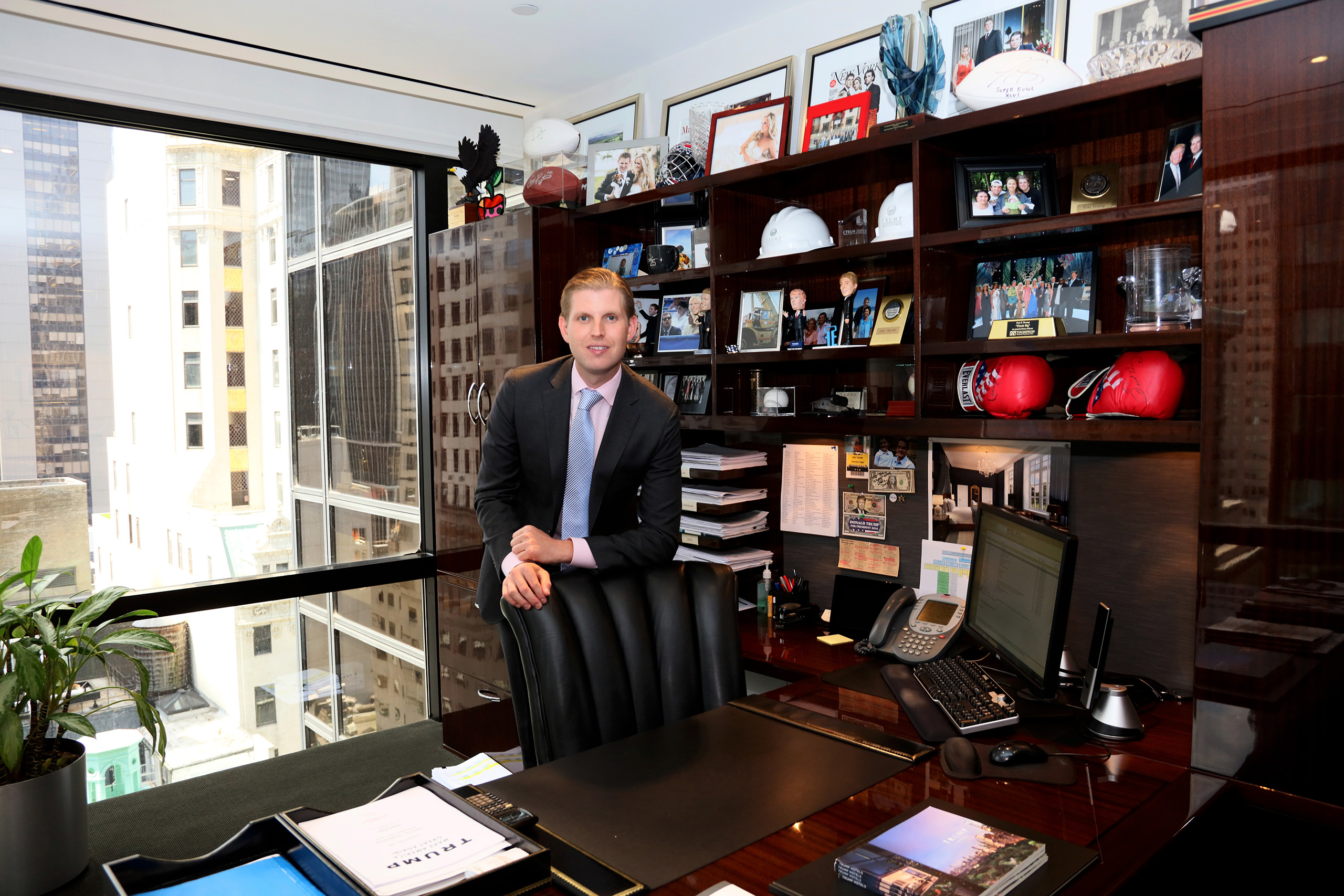 Eric Trump in his office at Trump Tower in New York City on July 6, 2016.