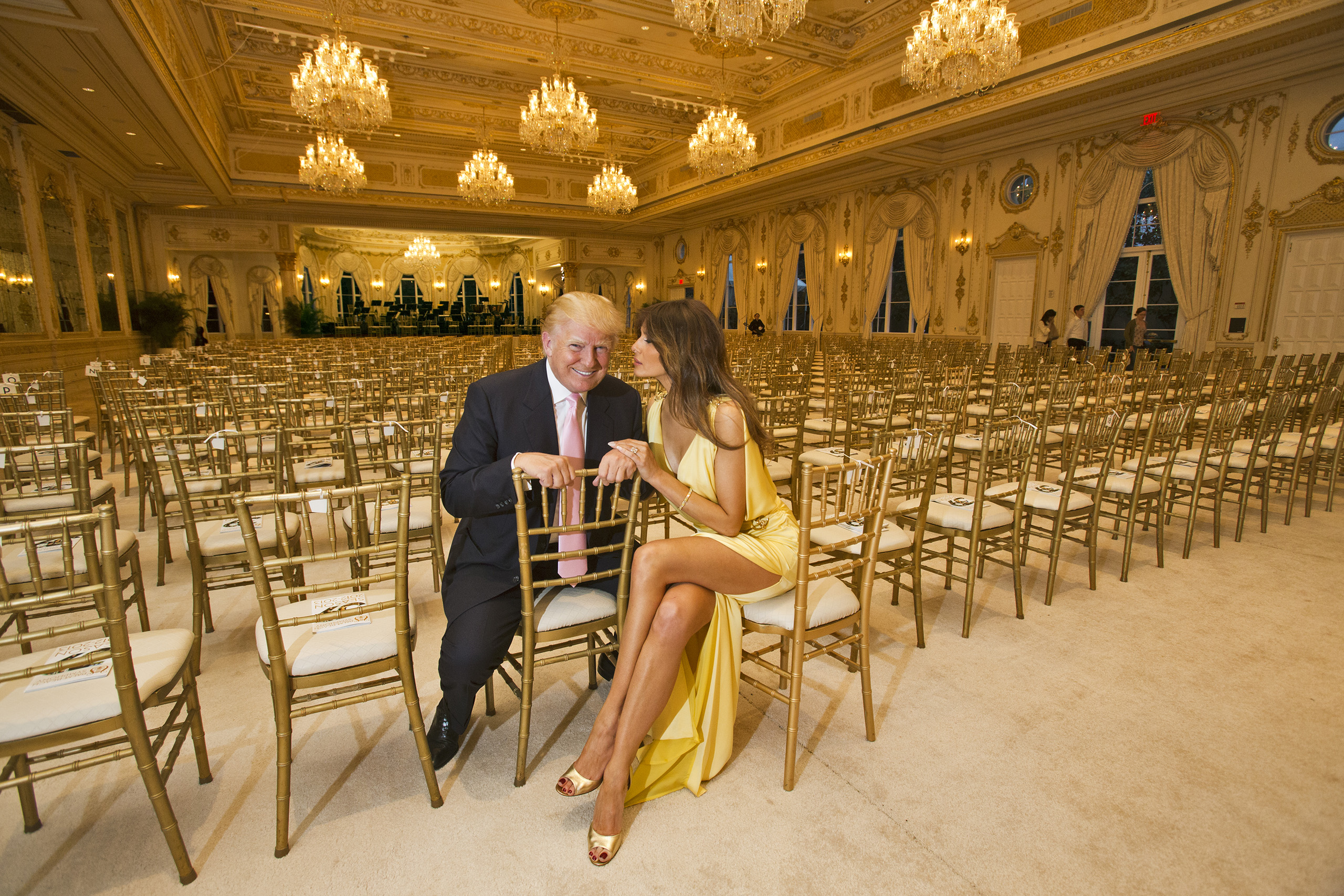 <b>2016</b> Trump and his wife, Melania, at the Mar-a-Lago Club in Palm Beach Florida.