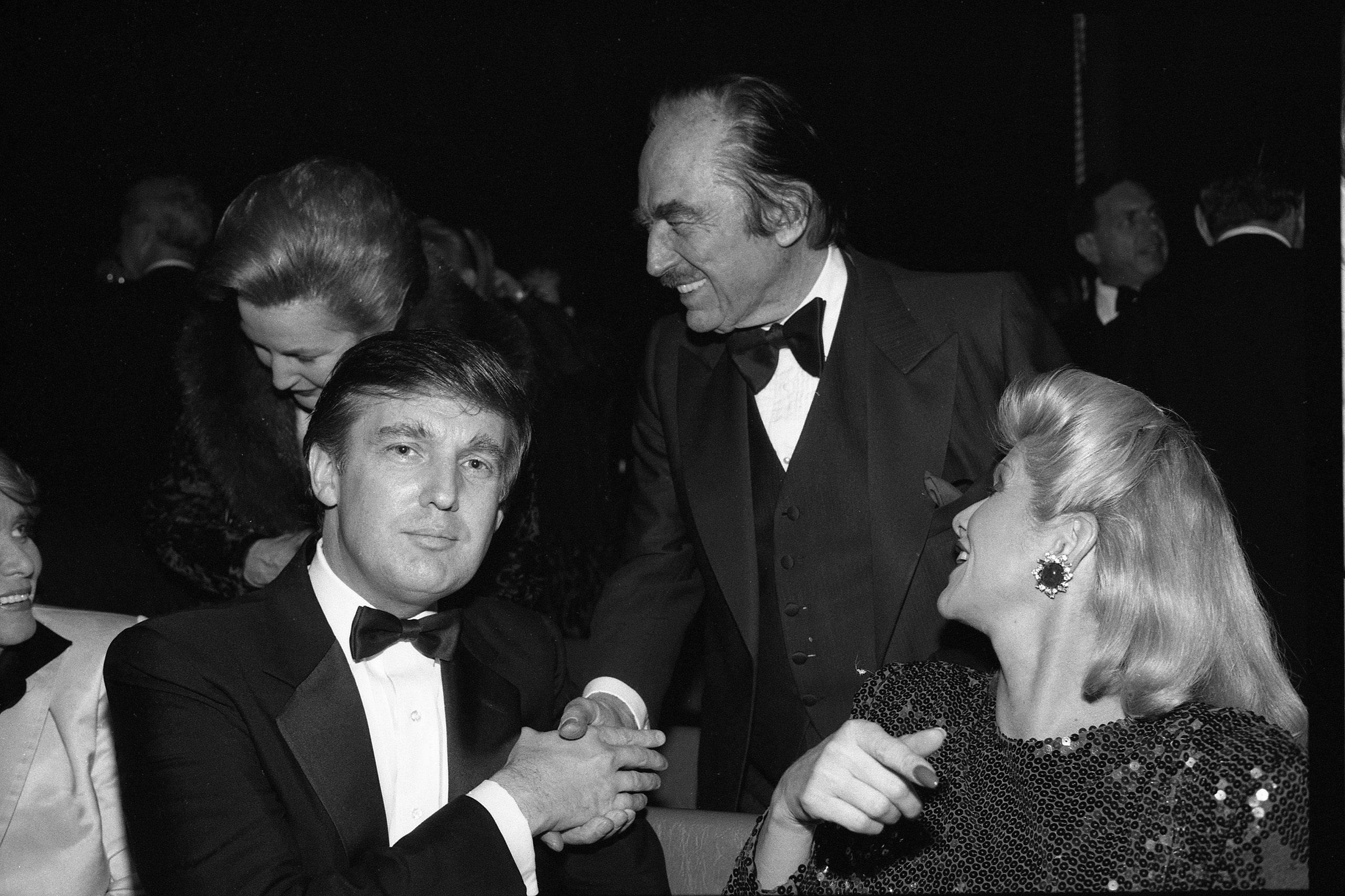 <b>1987</b> Trump and his father Fred and mother Mary Ann and Ivana, at a dinner in  New York City.