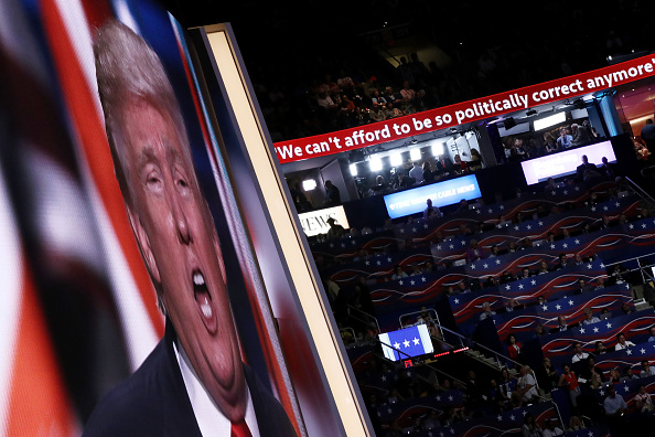 Though not visible on television, the Republican arena also had a scrolling Twitter screen, in keeping with the nominee's penchant for 140 character messages.
