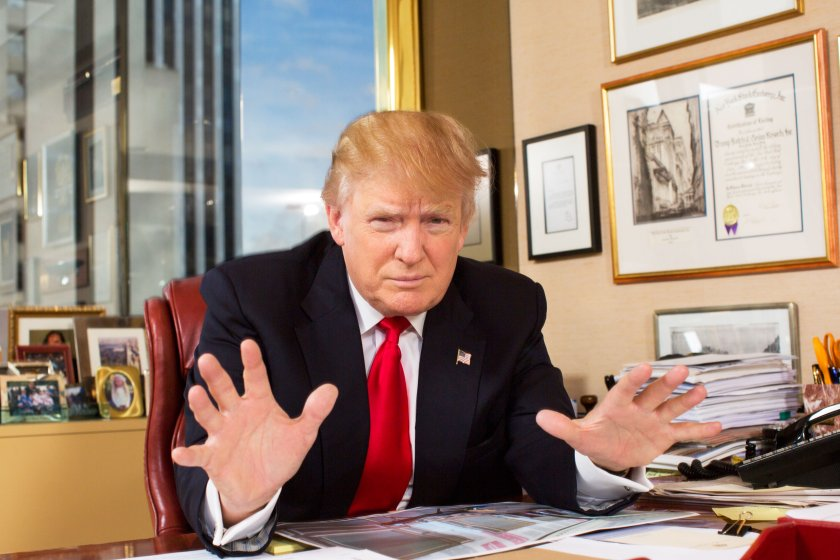 """""""I'm an intuitive person,"""" says the candidate, photographed at Trump Tower on July 11."""