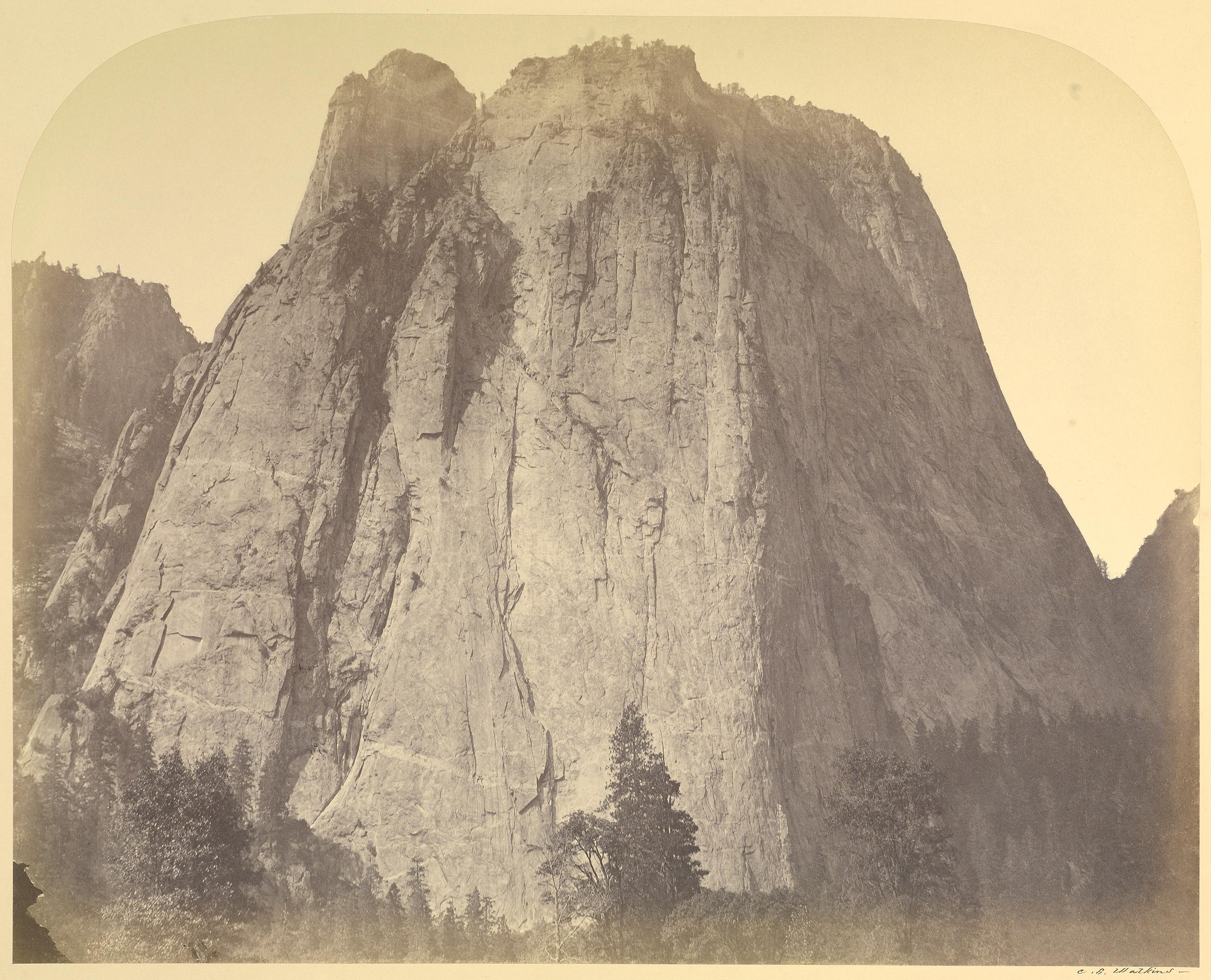 Cathedral Rock, Yo Semite. 1861.