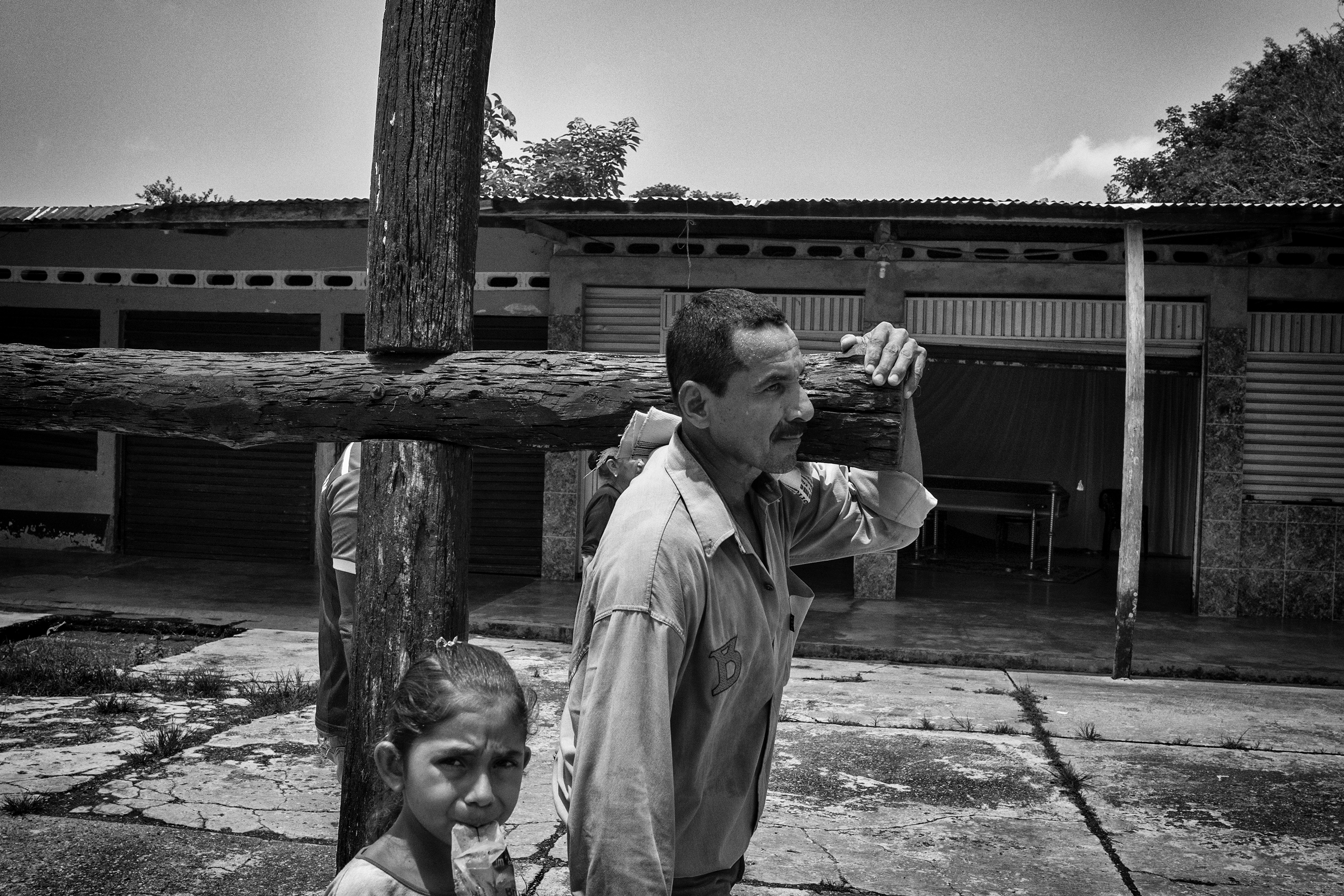 Civilians in the community of Remolinos del Caguan  during Easter celebrations, Caqueta, Colombia, April, 2016.