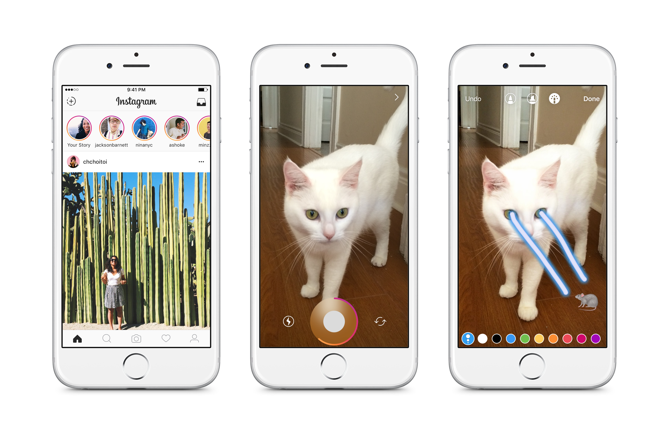 Instagram Stories lets you share photos and videos that disappear after 24 hours.
