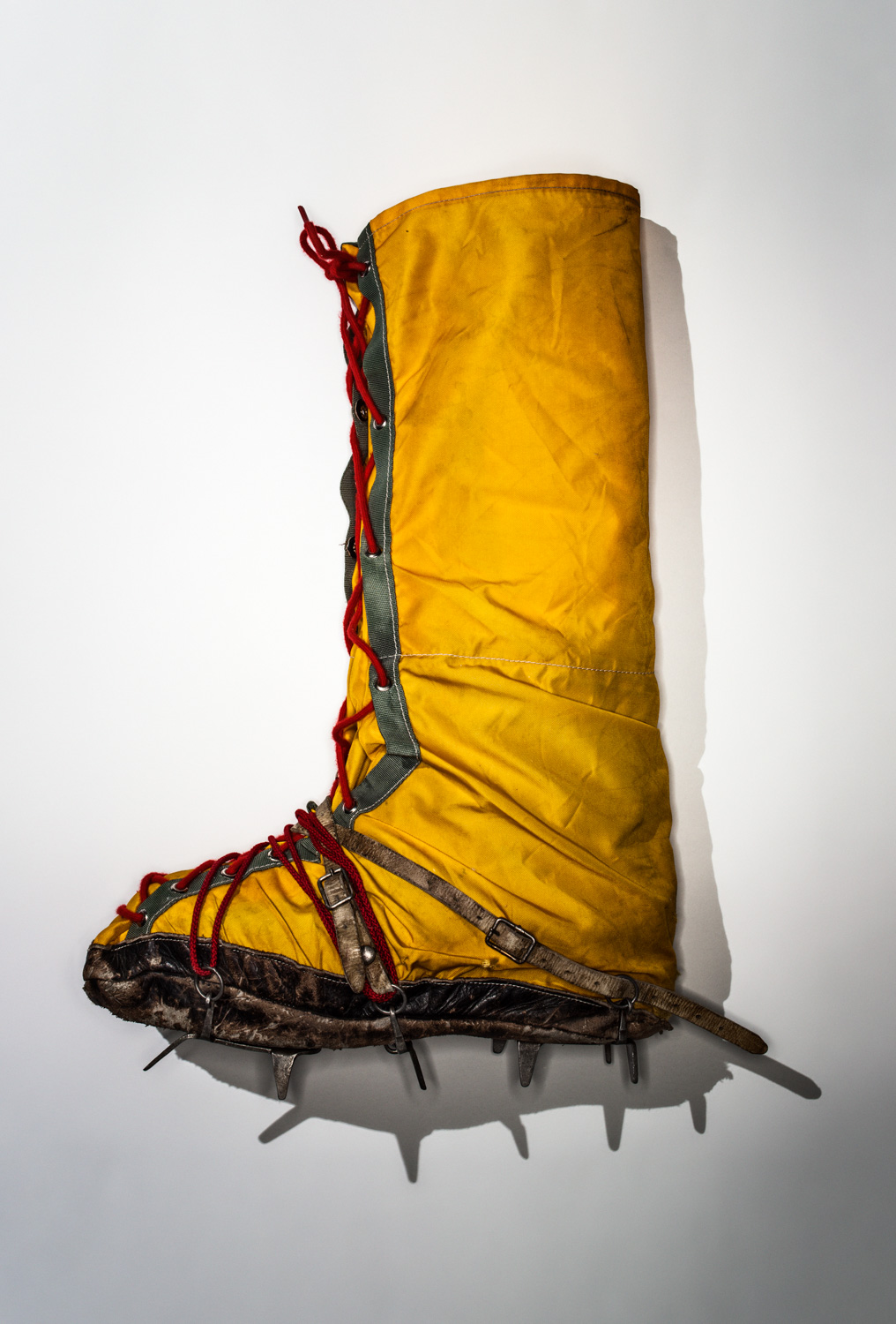 American Mountaineer James Whittaker's Eddie Bauer overboot with crampons.