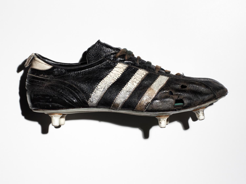German footballer Franz Anton Beckenbauer's Cosmos Adidas football boot from 1970.
