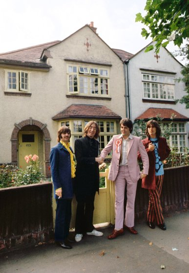 The Beatles Mad Day Out photoshoot in 1968.