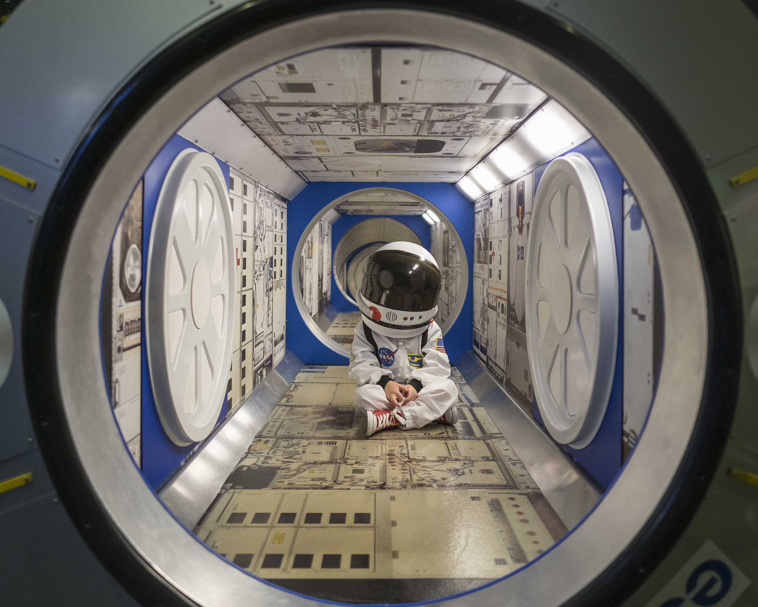 Hanging out in the International Space Station exhibit, July 20, 2016.