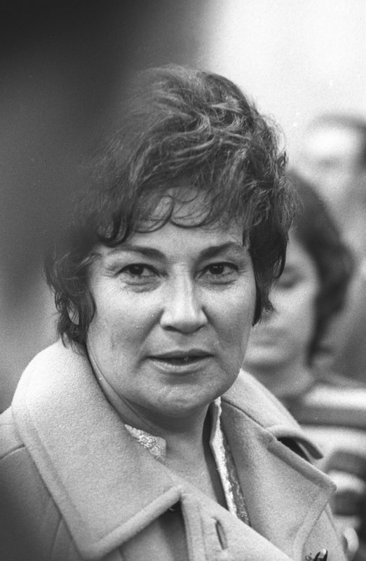Bella Abzug benefit for Bella Abzug on Feb. 1, 1971 at Katz's Deli in New York City.