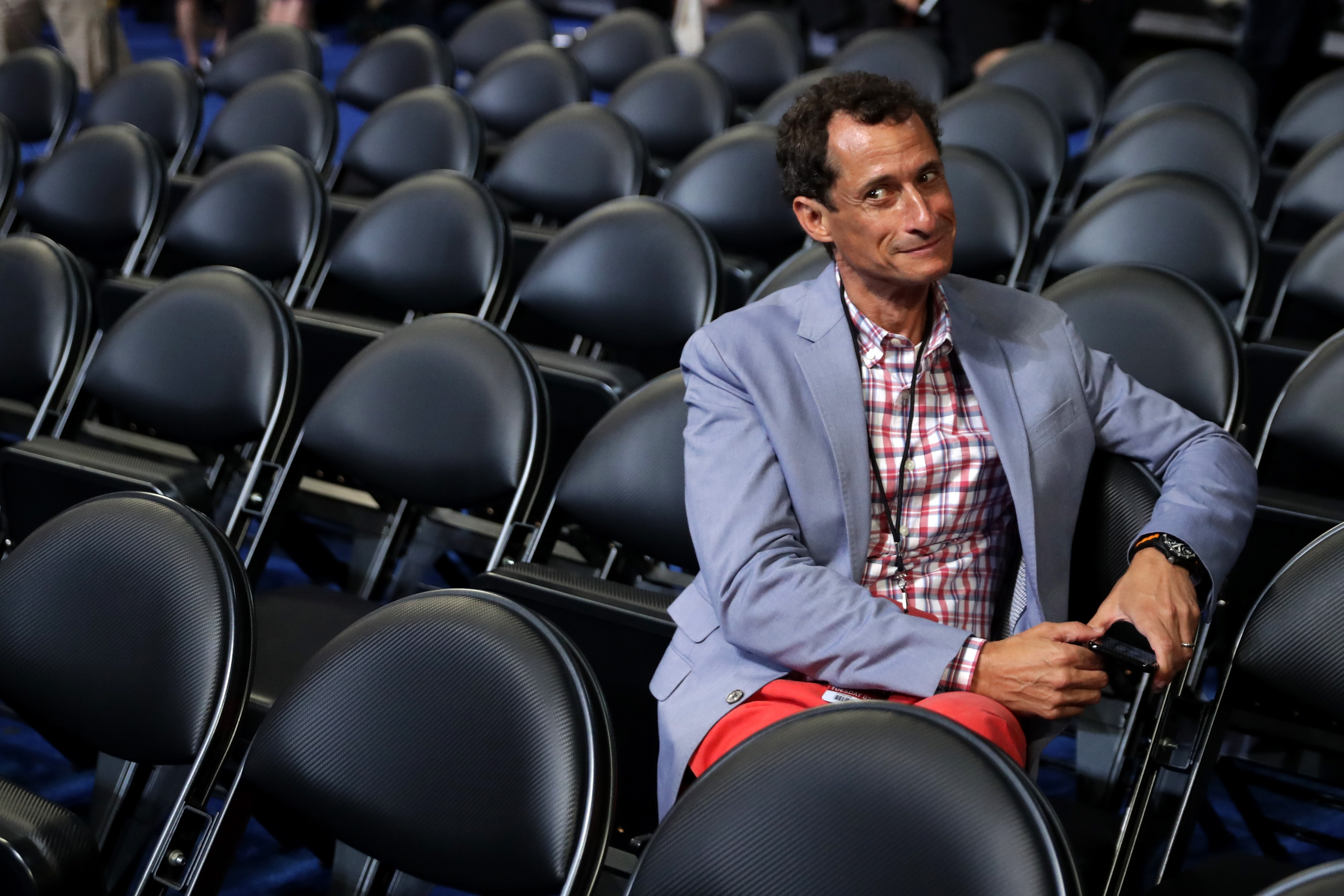Anthony Weiner on July 26, 2016 in Philadelphia, PA.