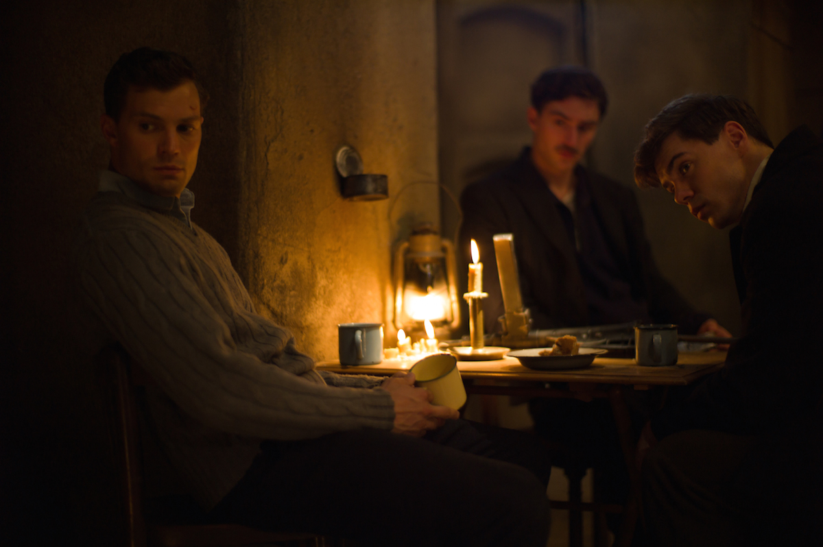 Jamie Dornan (left) stars as Jan Kubiš in director Sean Ellis' ANTHROPOID, a Bleecker Street release.