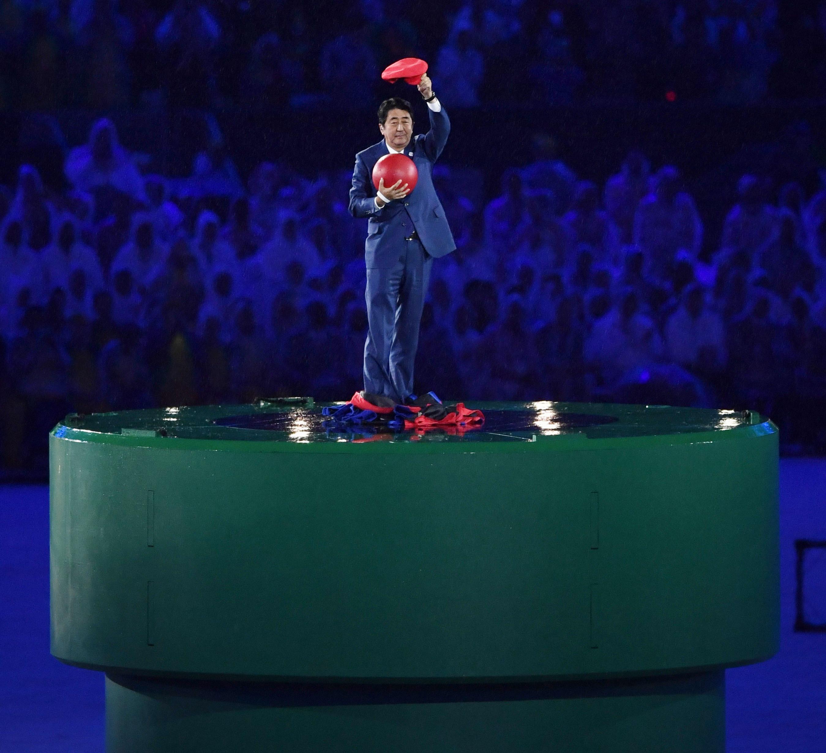 Shinzo Abe Dresses as Super Mario for Rio Closing Ceremony   Time