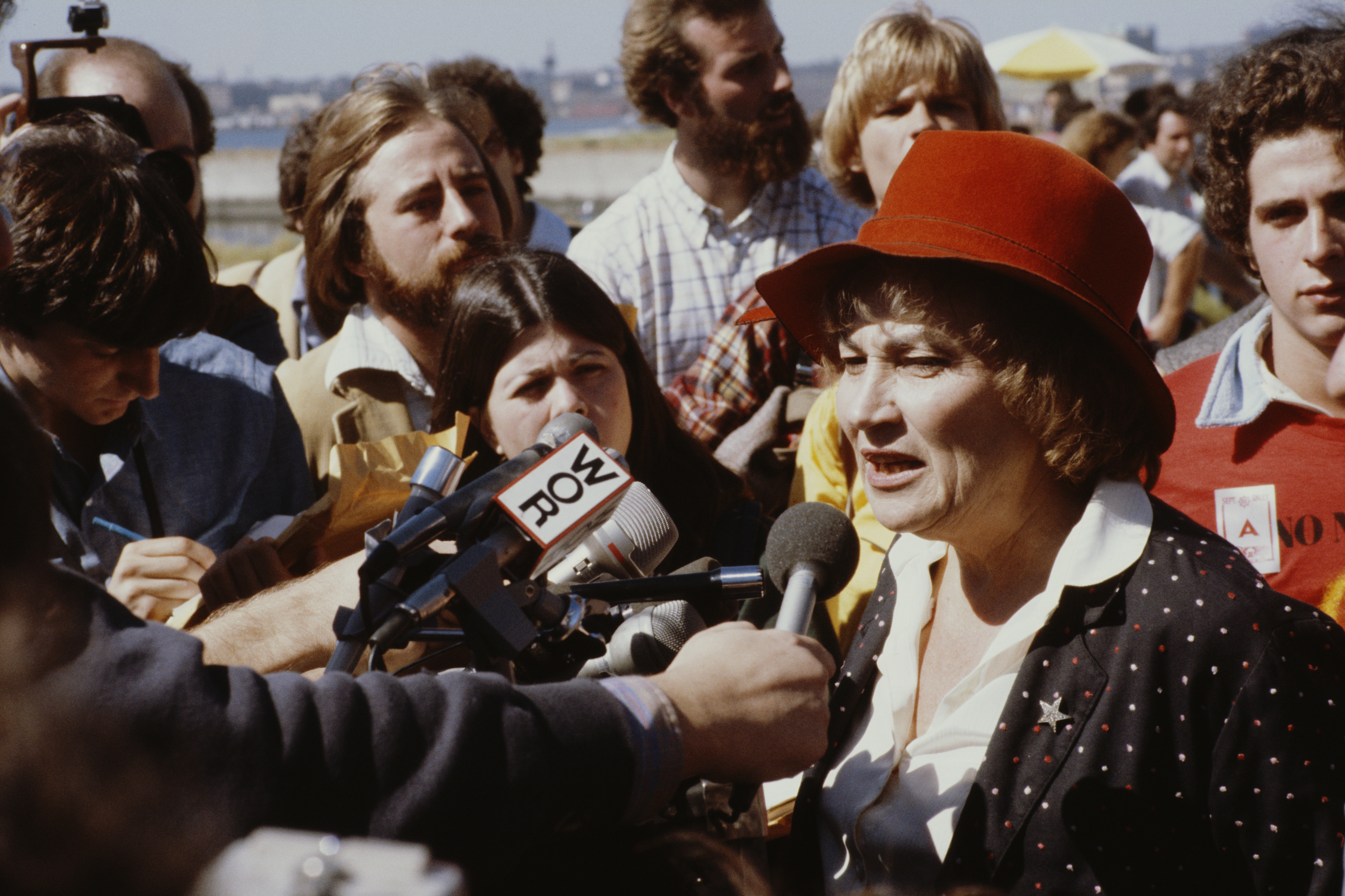 American congresswoman Bella Abzug (1920 - 1998) attends an anti-nuclear protest in New York City, 23rd September 1979.