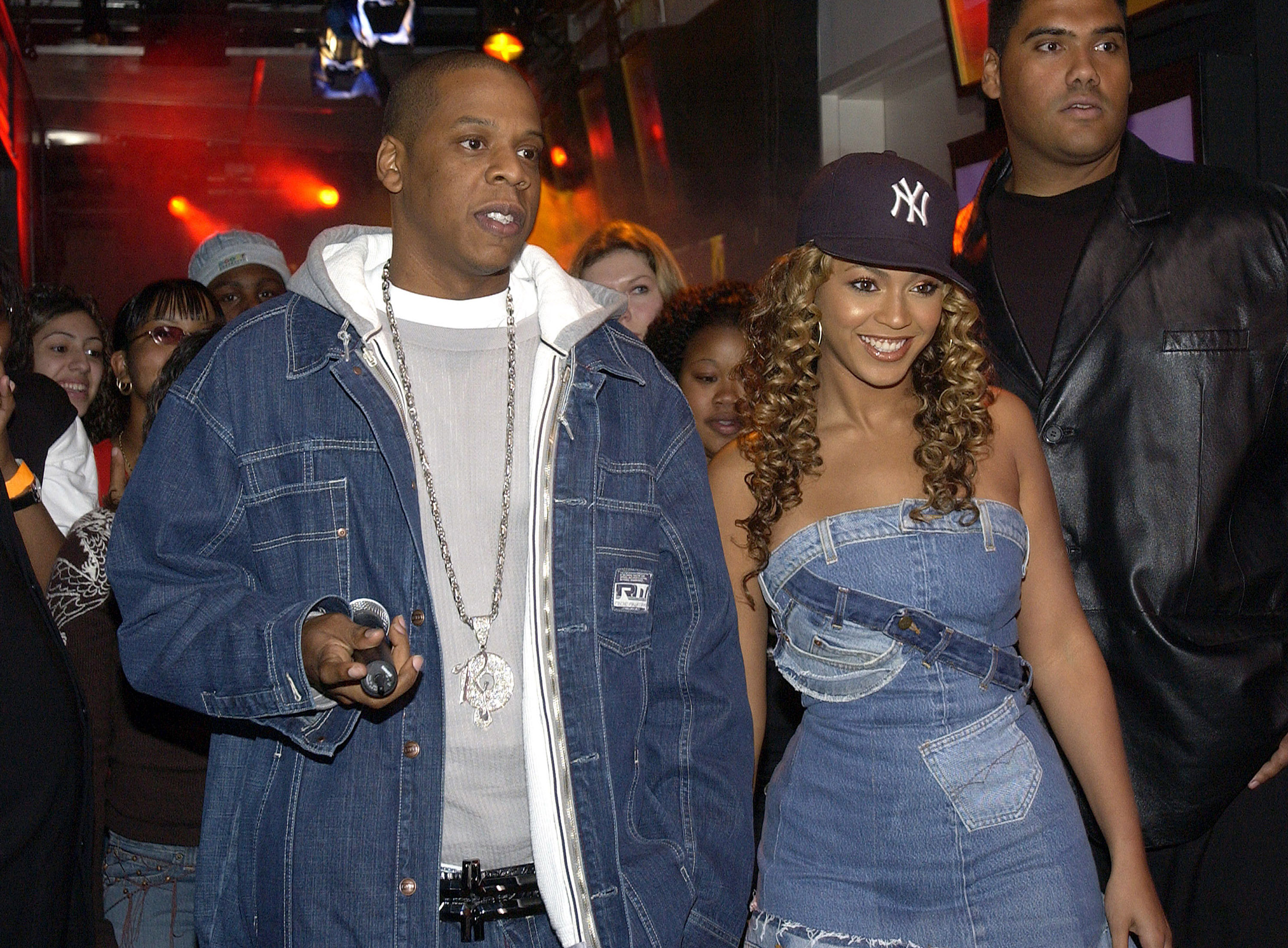 "Jay-Z and Beyonce Knowles during ""Spankin' New Music Week"""