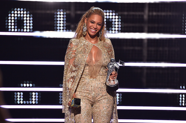 Beyonce accepts an award onstage during the 2016 MTV Music Video Awards at Madison Square Gareden on August 28, 2016 in New York City.