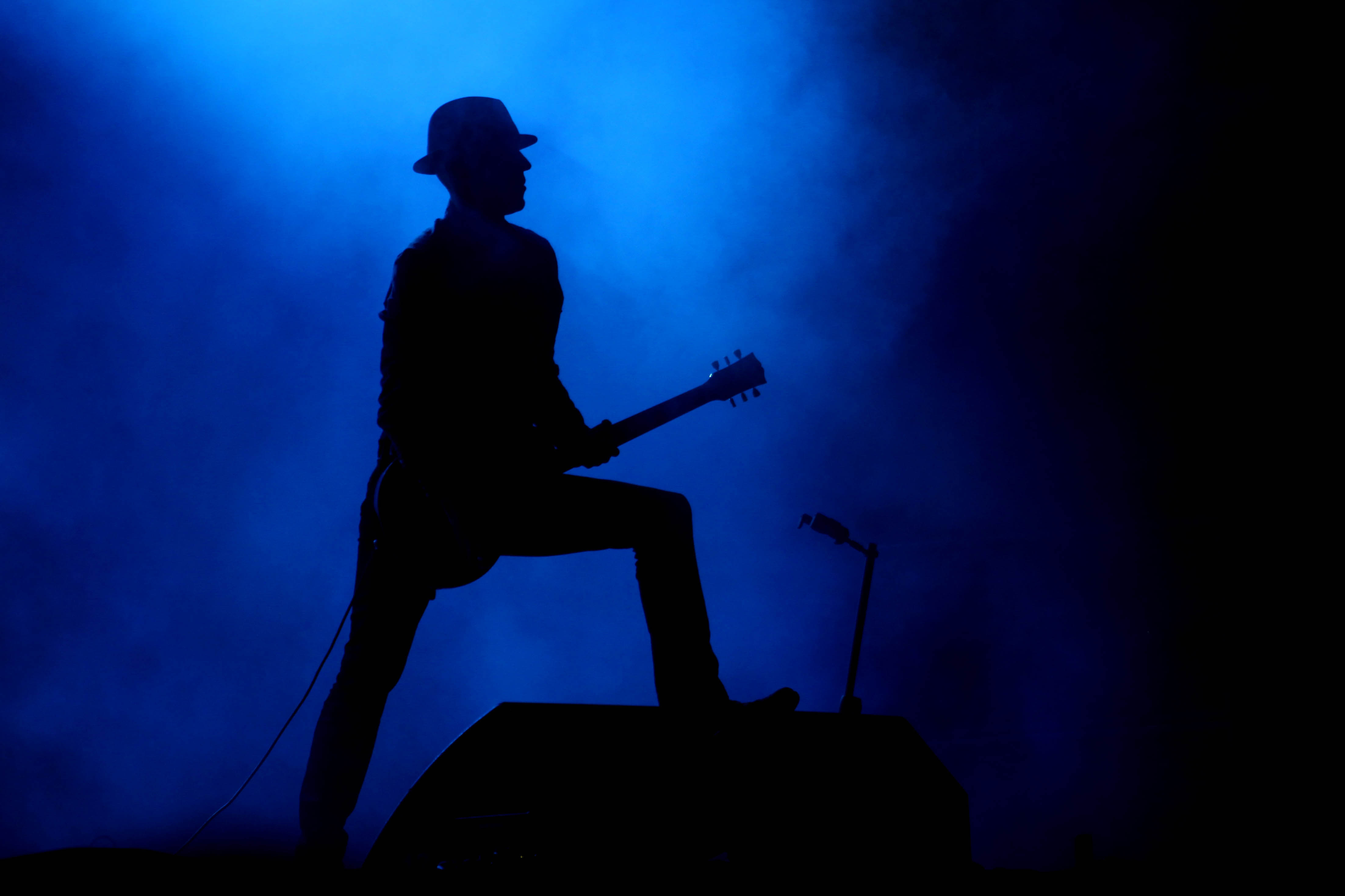 A member of the Los Angeles band Blind Melon performs during the Cumbre Tajin 2013 music festival in Papantla, Mexico, Saturday, March 23, 2013. (AP Photo/Felix Marquez)