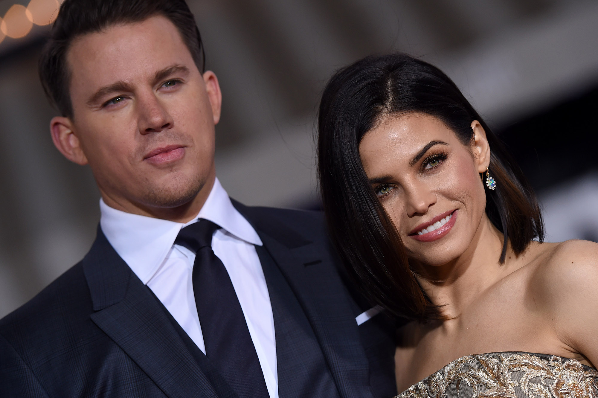 Channing Tatum and Jenna Dewan-Tatum arrive at the premiere of Universal Pictures' 'Hail, Caesar!' at Regency Village Theatre on February 1, 2016 in Westwood, California.  (Photo by Axelle/Bauer-Griffin/FilmMagic)