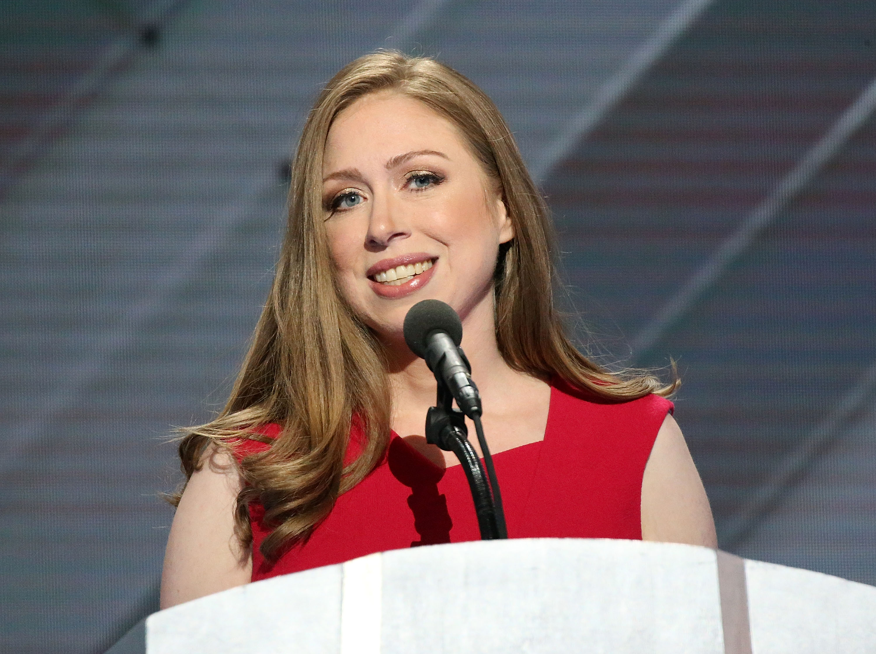 Chelsea Clinton delivers remarks on the fourth day of the Democratic National Convention at the Wells Fargo Center on July 28, 2016 in Philadelphia.