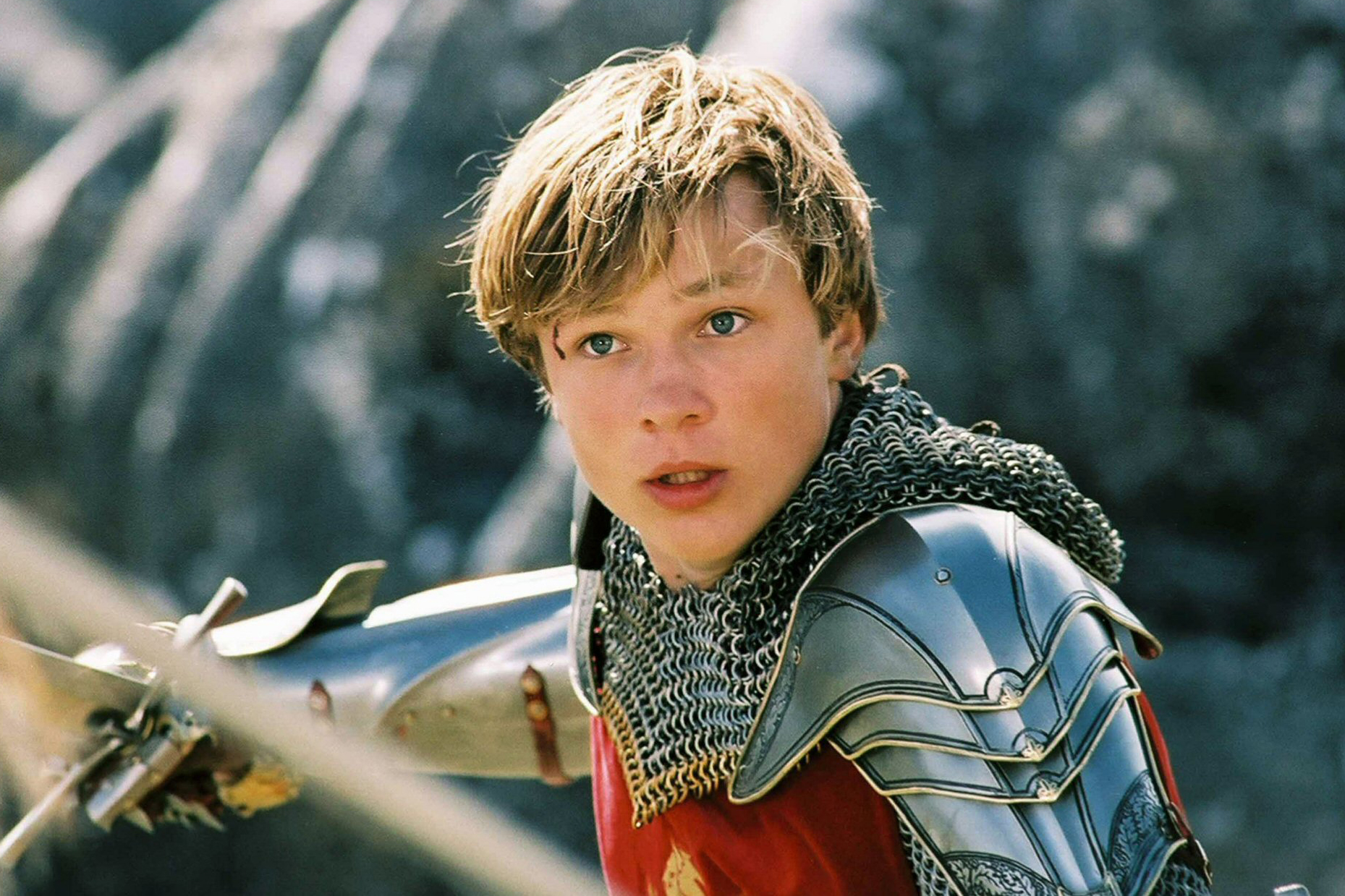 William Moseley as Peter Pevensie in The Chronicles of Narnia: The Lion, the Witch and the Wardrobe.