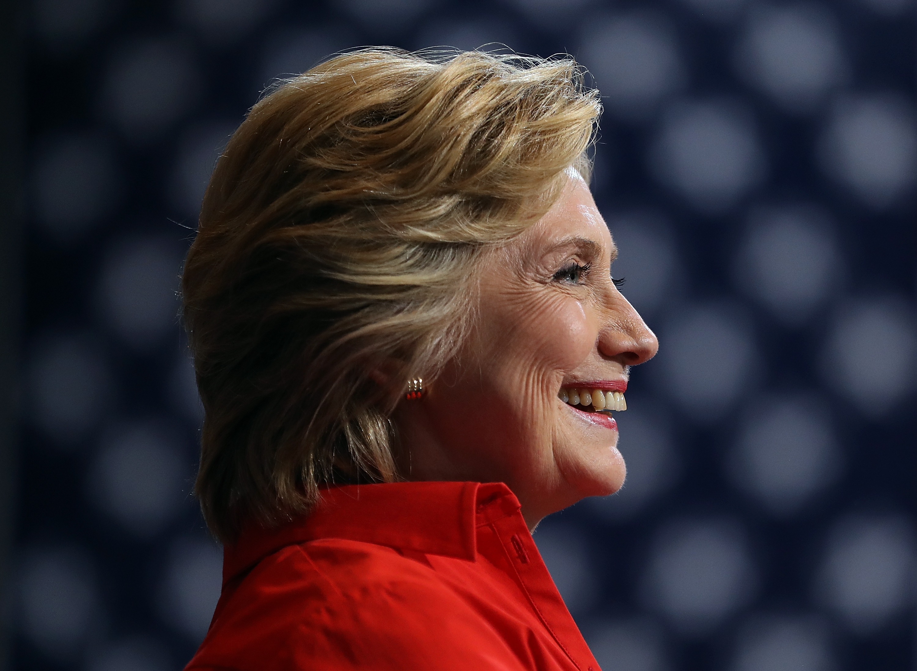 Hillary Clinton looks on during a campaign rally on July 30, 2016 in Pittsburgh, PA.