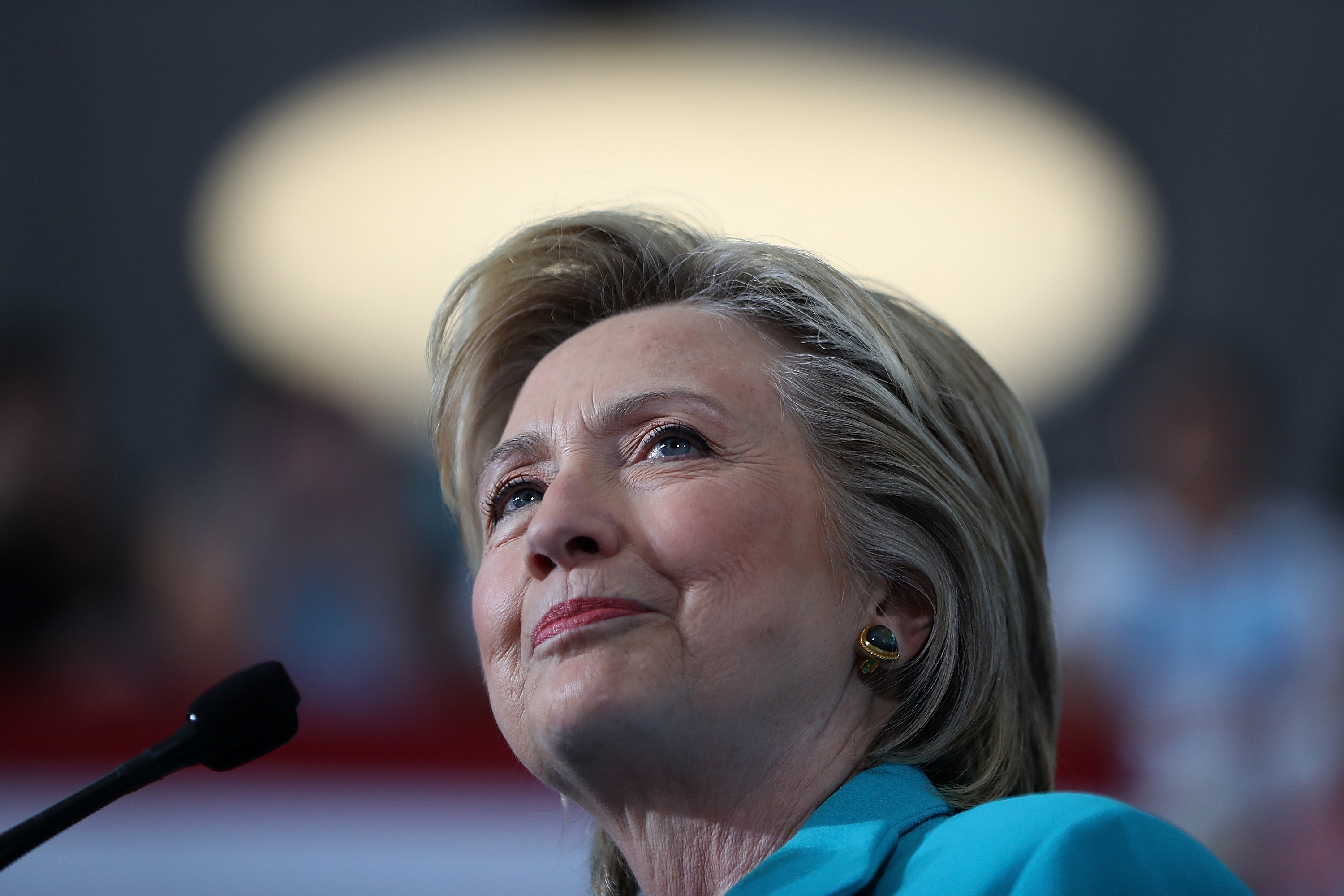 Democratic presidential nominee former Secretary of State Hillary Clinton speaks during a campaign even at Truckee Meadows Community College in Reno, Nev., on Aug. 25, 2016.