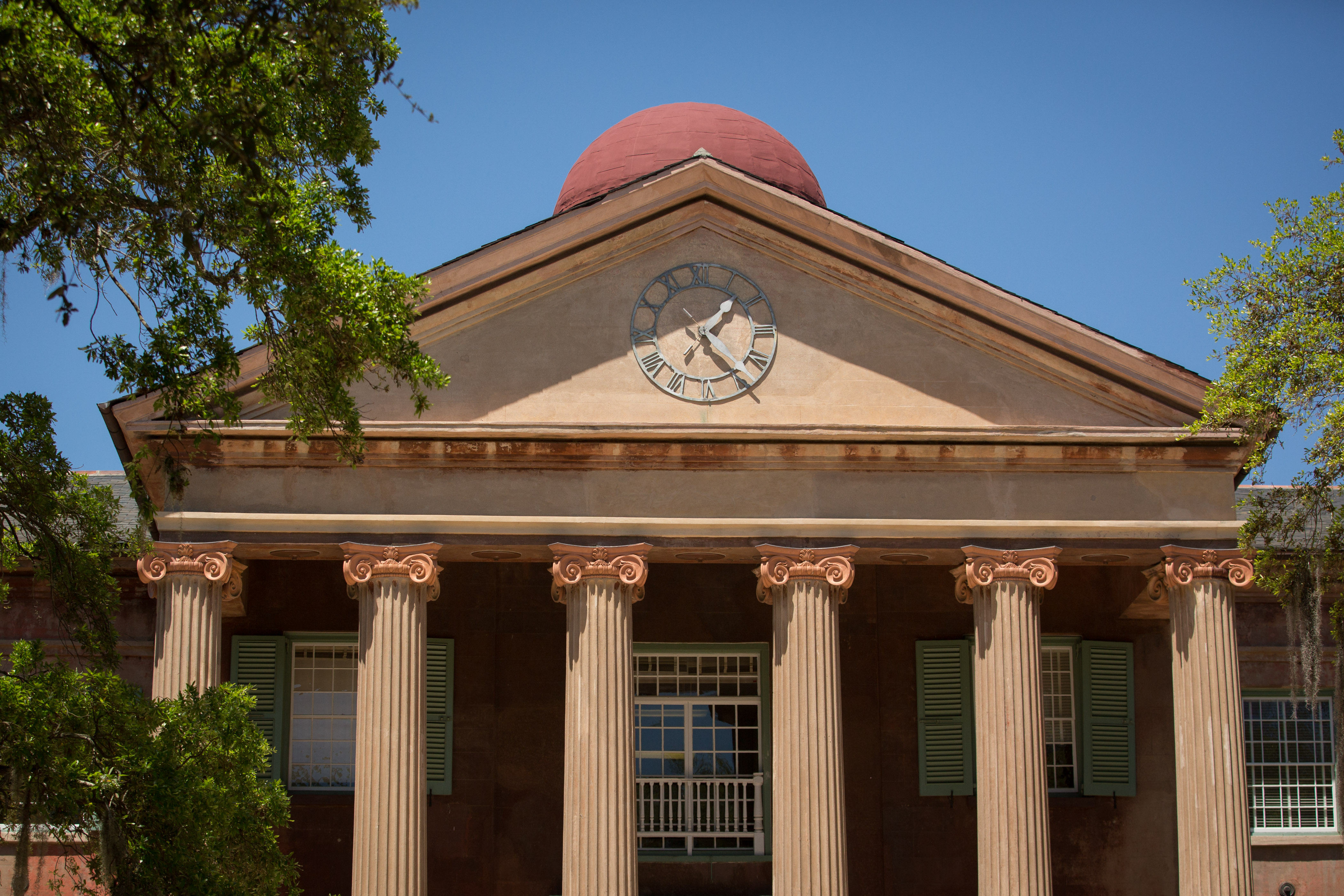 College of Charleston's iconic Randolph Hall, pictured on April 21, 2014 in Charleston, S.C.