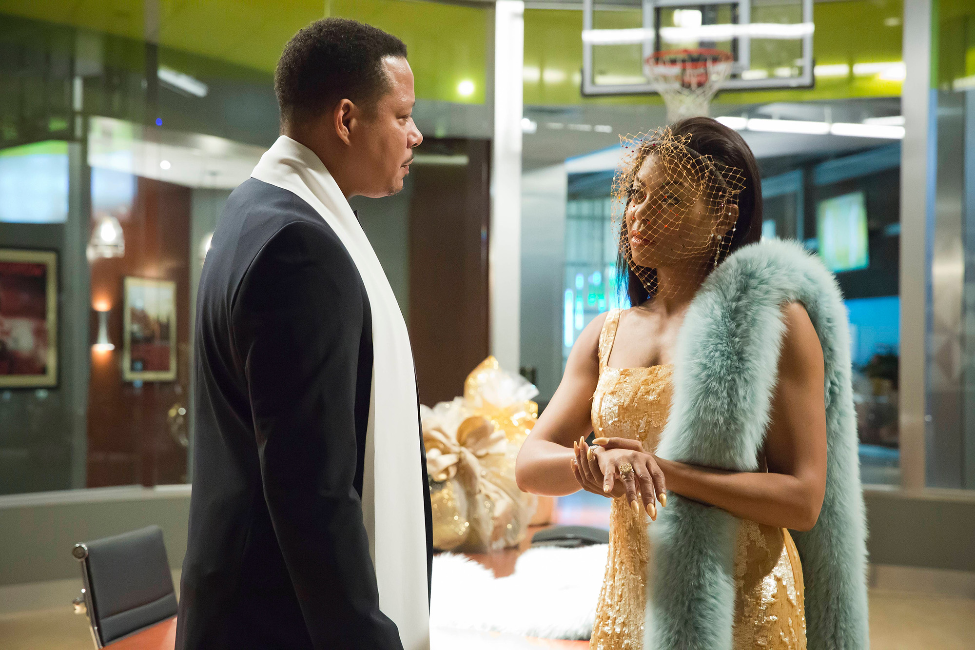 Terrence Howard and Taraji P. Henson in the  Rise by Sin  episode of EMPIRE airing Wednesday, May 11 (9:00-10:00 PM ET/PT) on FOX. (Photo by FOX via Getty Images)