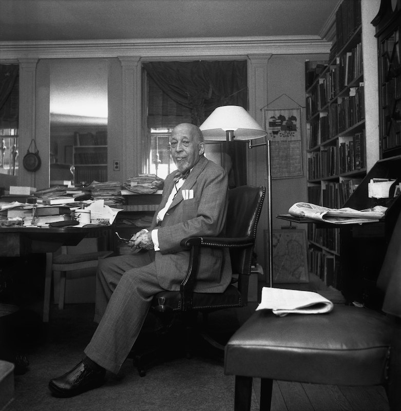 Author, sociologist, historian and civil rights activist W. E. B. Du Bois poses for a portrait at home in 1959 in New York City