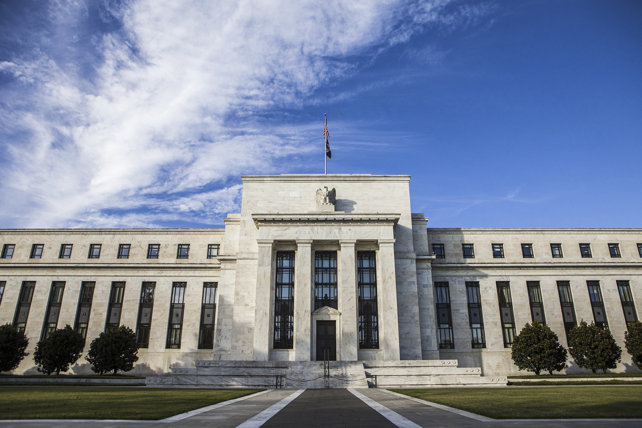 A general view of the Federal Reserve Building in Washington, United States.