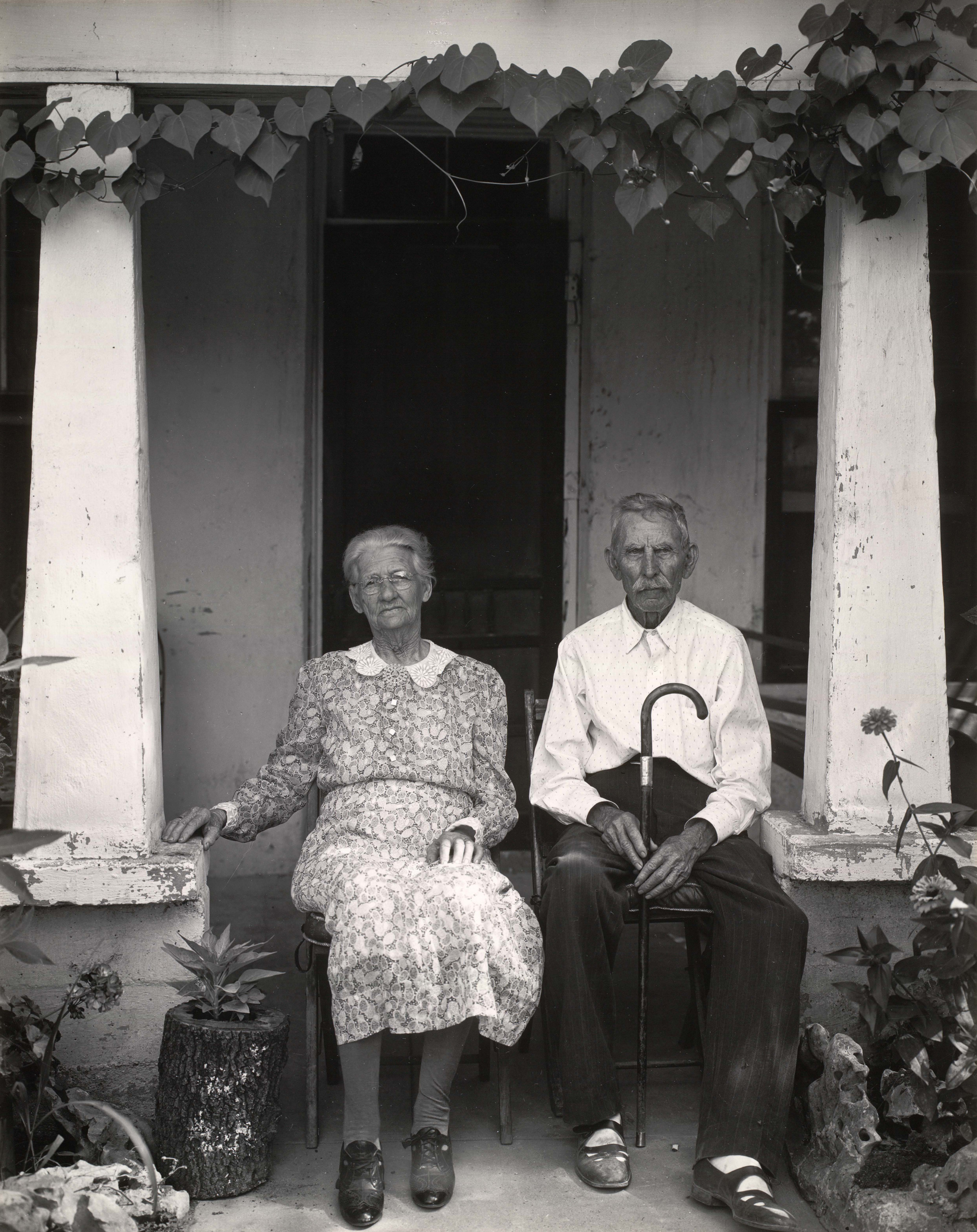 Mr. and Mrs. Fry of Burnet, Texas, 1941