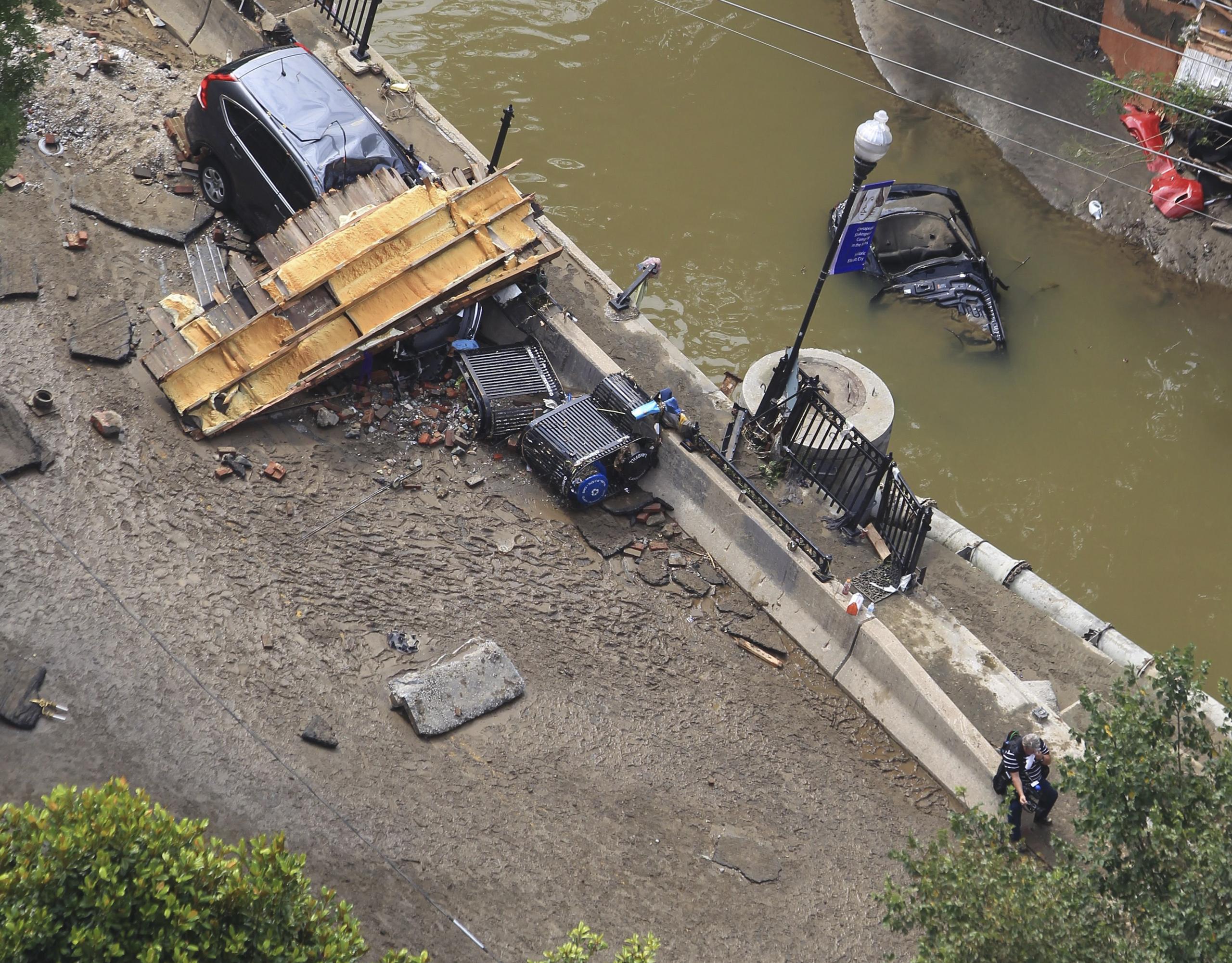 Ellicott City flash flood, Maryland on July 31, 2016.