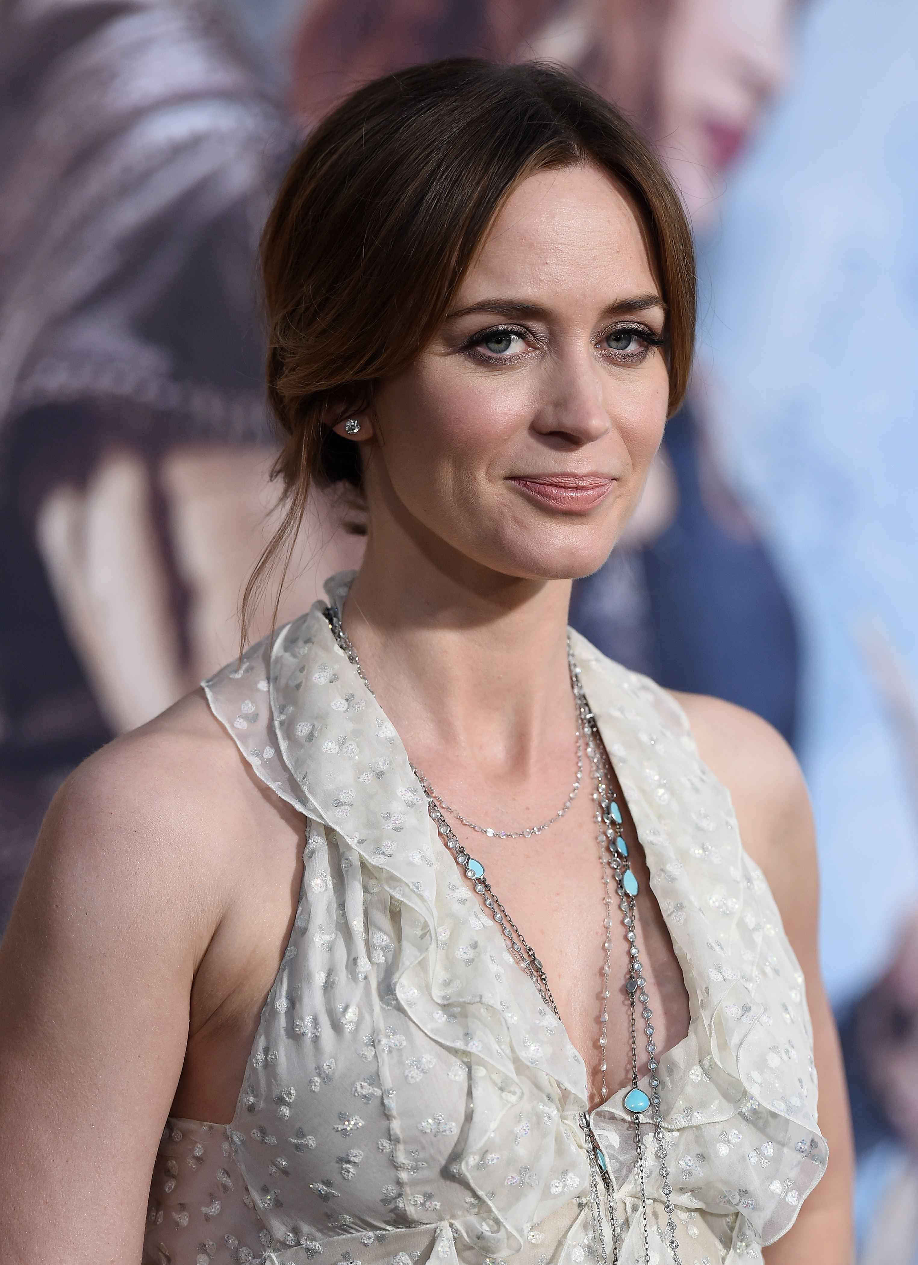 Emily Blunt arrives at the premiere of 'The Huntsman: Winter's War' on April 11, 2016 in Westwood, California.
