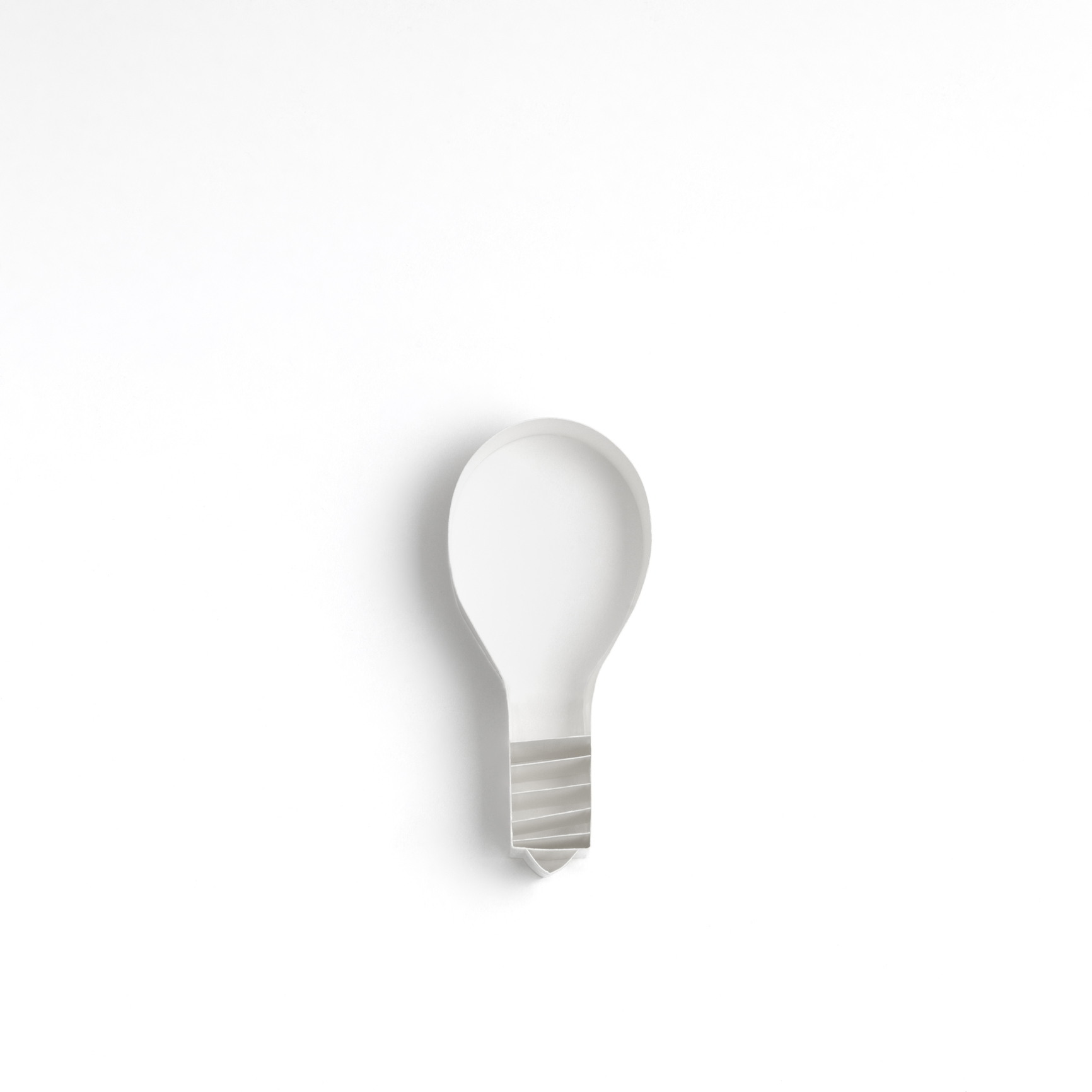 electric light bulb folded out of paper, origami style