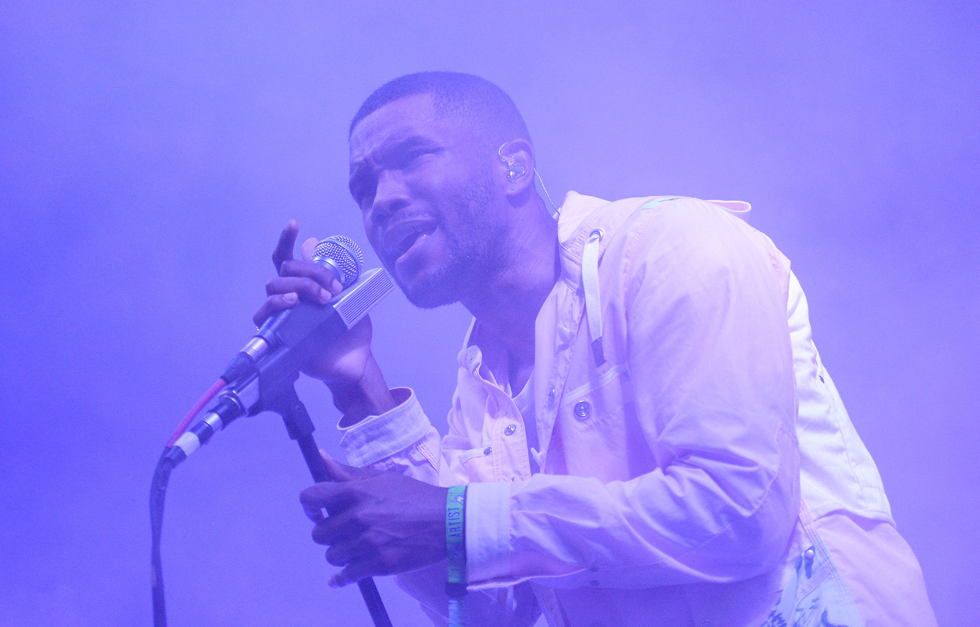 Frank Ocean performs during the 2014 Bonnaroo Music & Arts Festival on June 14, 2014 in Manchester, Tennessee.  (Photo by Jason Merritt/Getty Images)