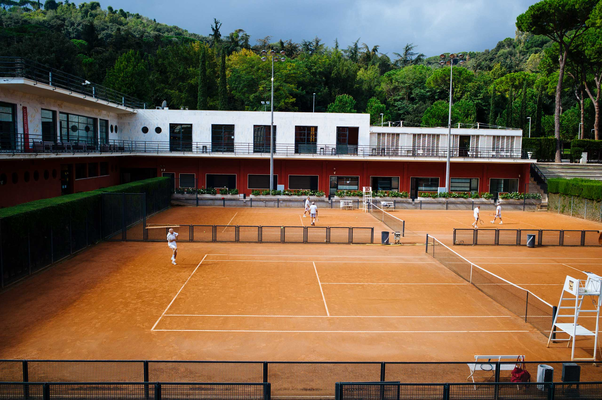A private tennis club that was part of the Foro Italico sports complex in Rome, host of the 1960 Summer Olympics, photographed in June 2012.